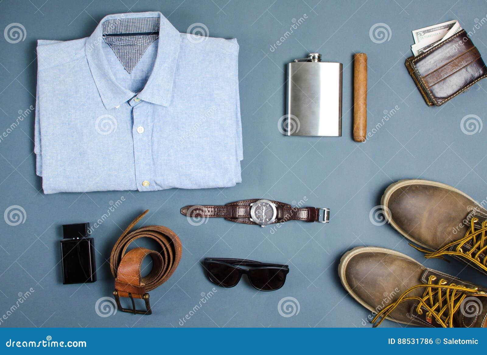 newest 21a24 6e225 Männliche Kleidung Und Mode-Accessoires Flatlay Stockfoto ...