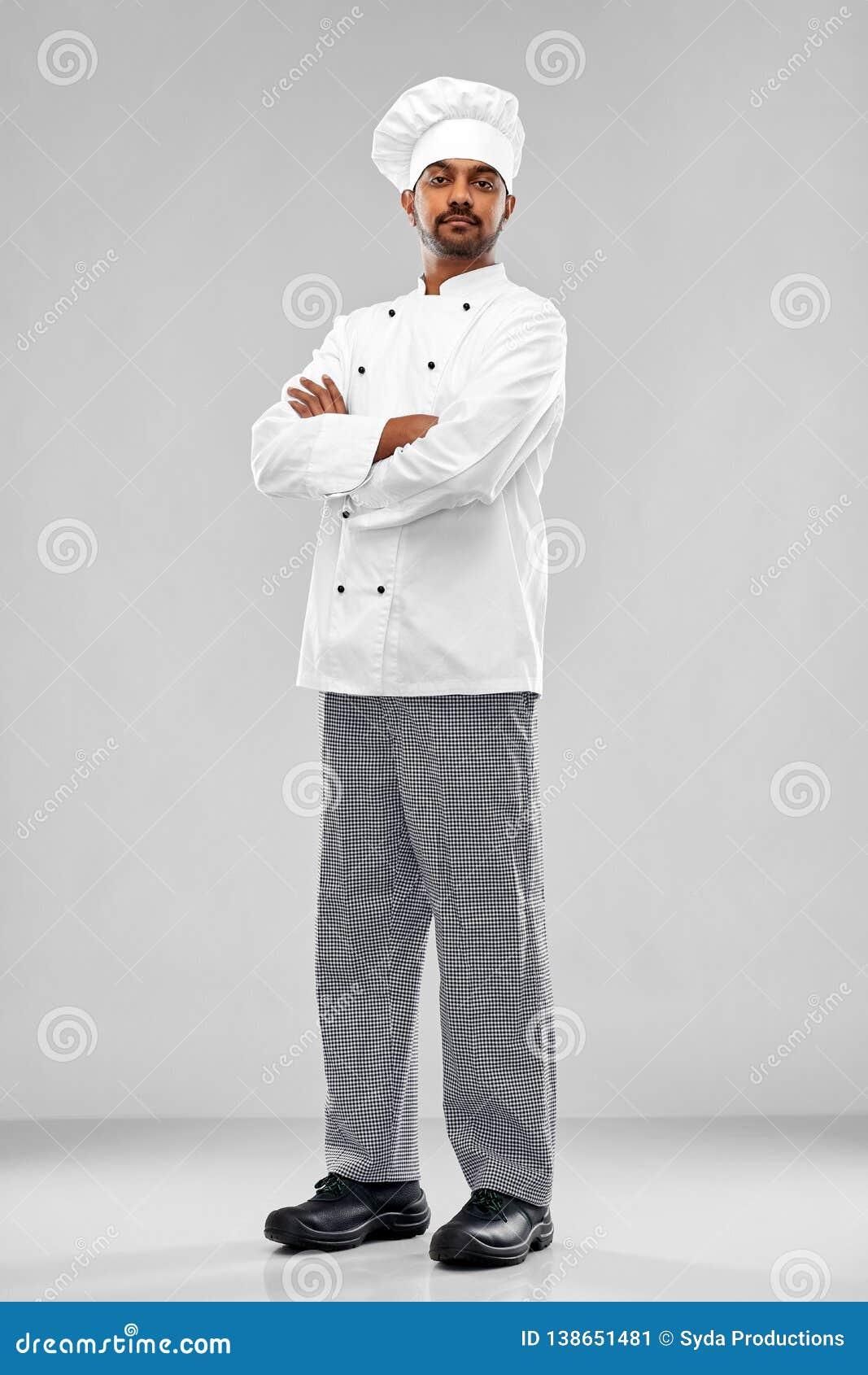 Männlicher indischer Chef im Toque