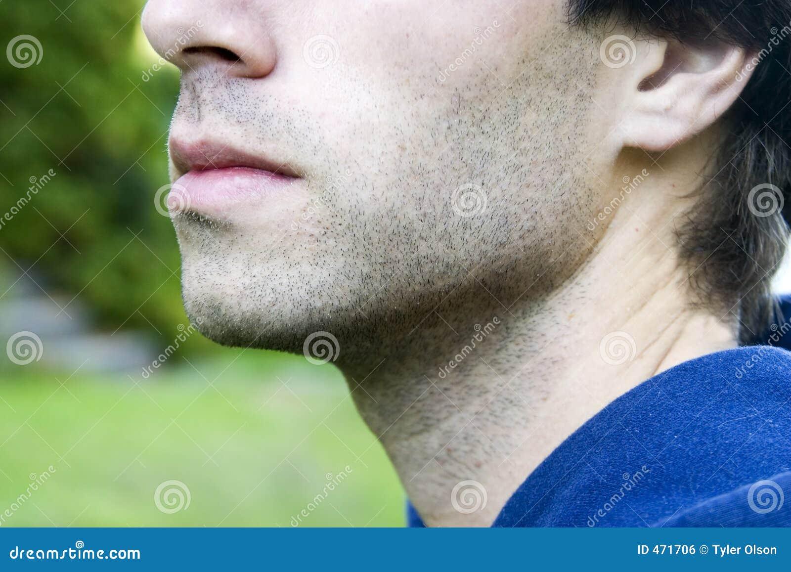 Männlicher Mund