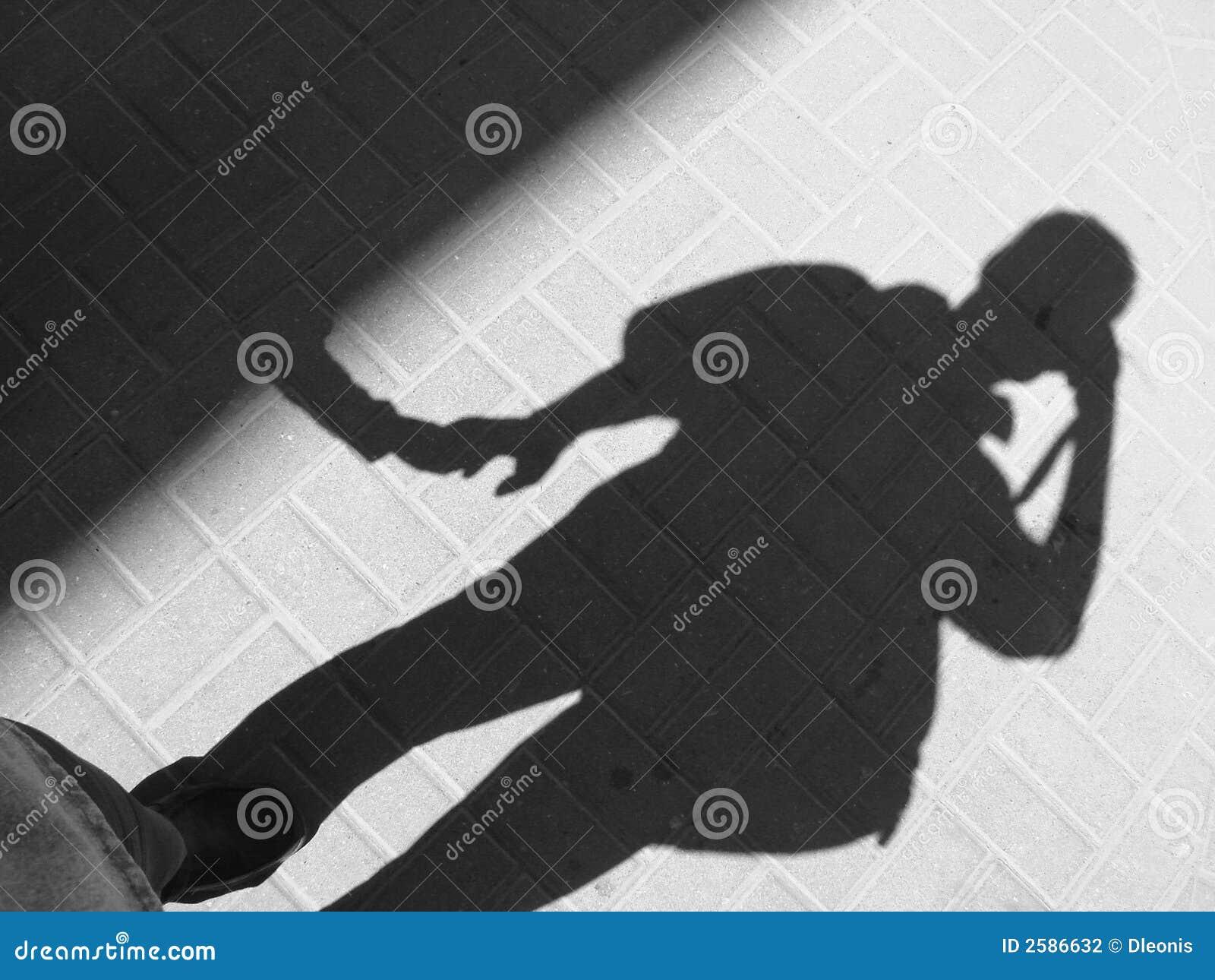 Männlicher Schatten