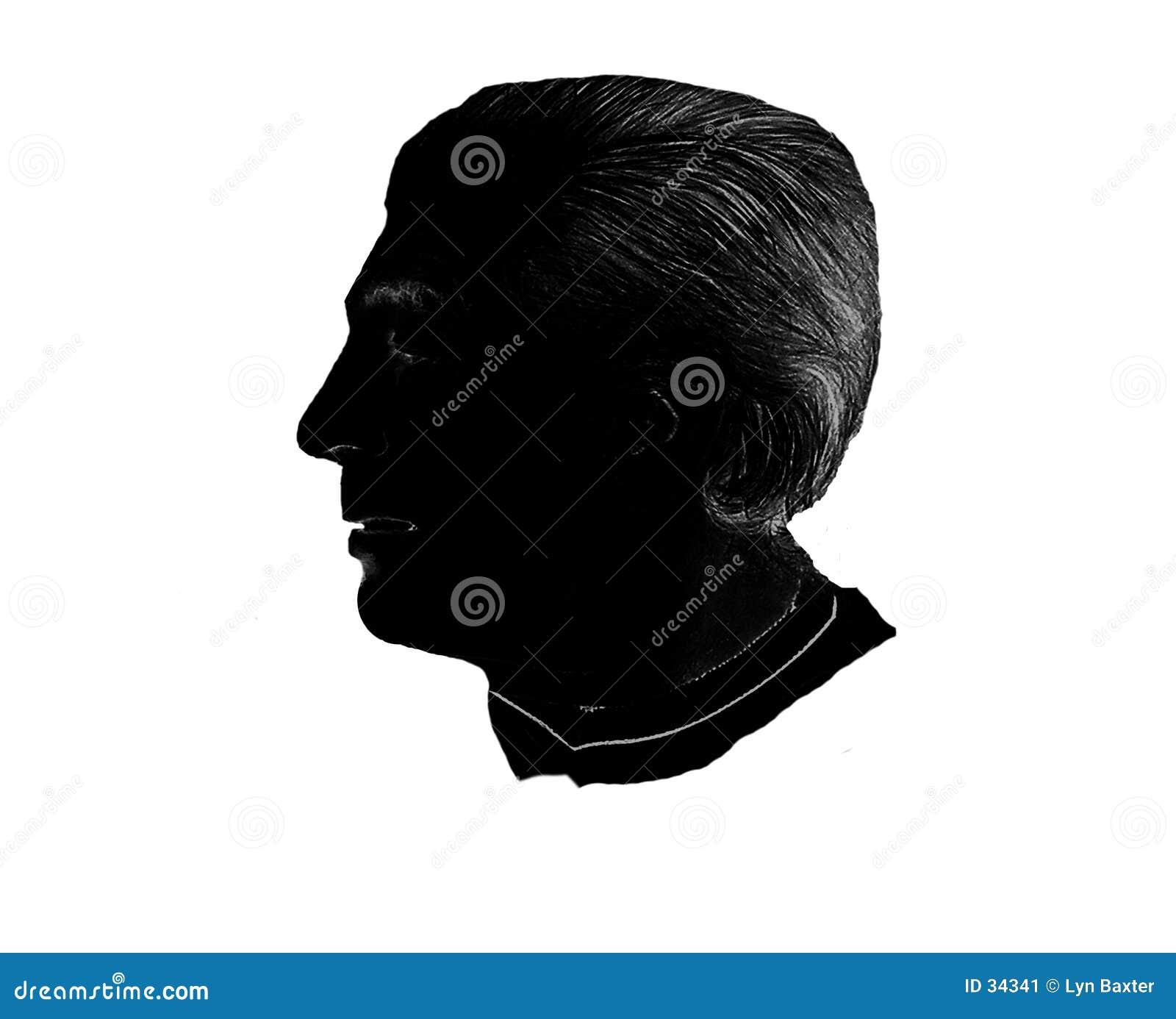 Männliches Schattenbild