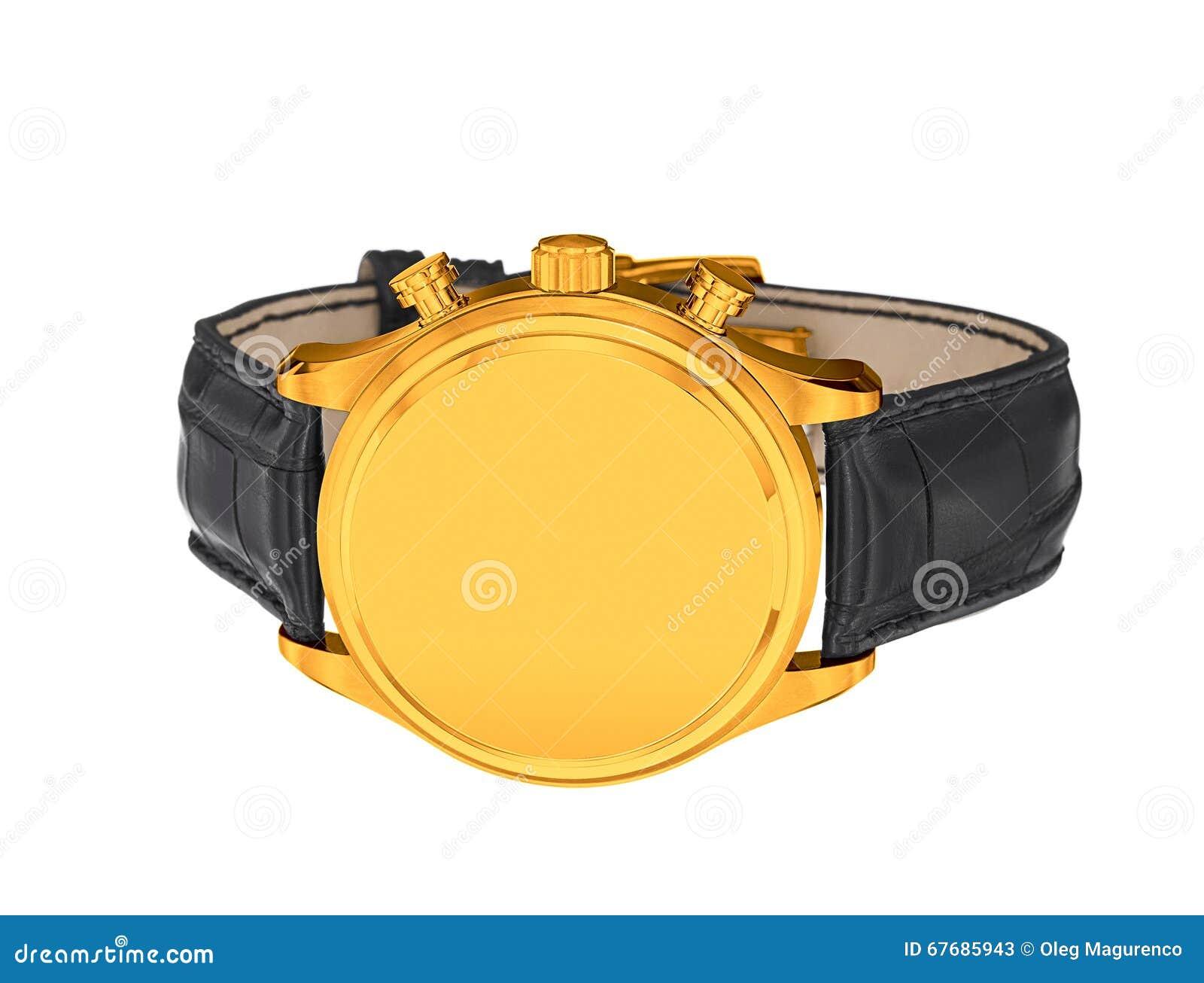 Mäns lyxiga guld- armbandsur