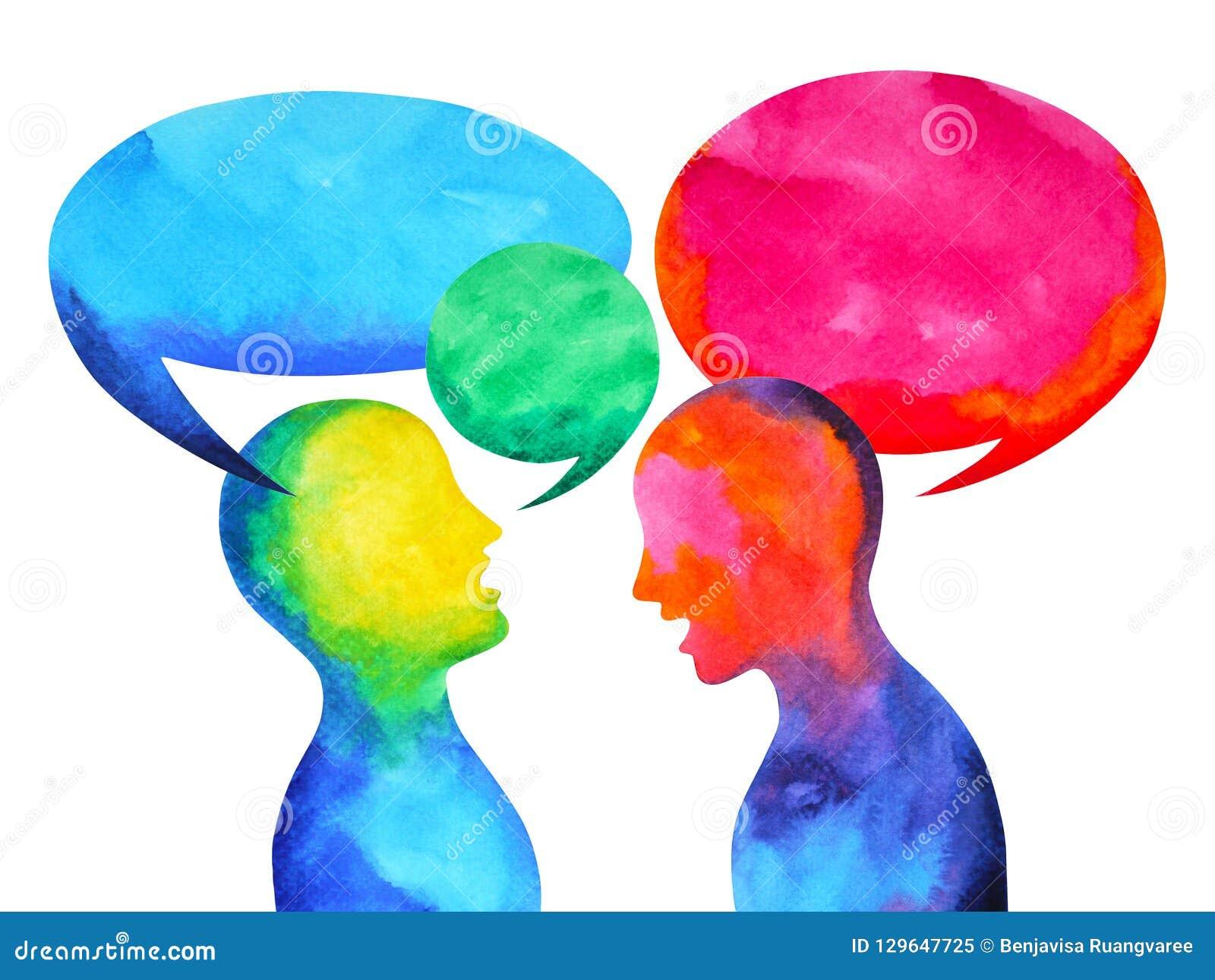 Mänsklig talande lyssnande makt av världsuniversum för geni tillsammans