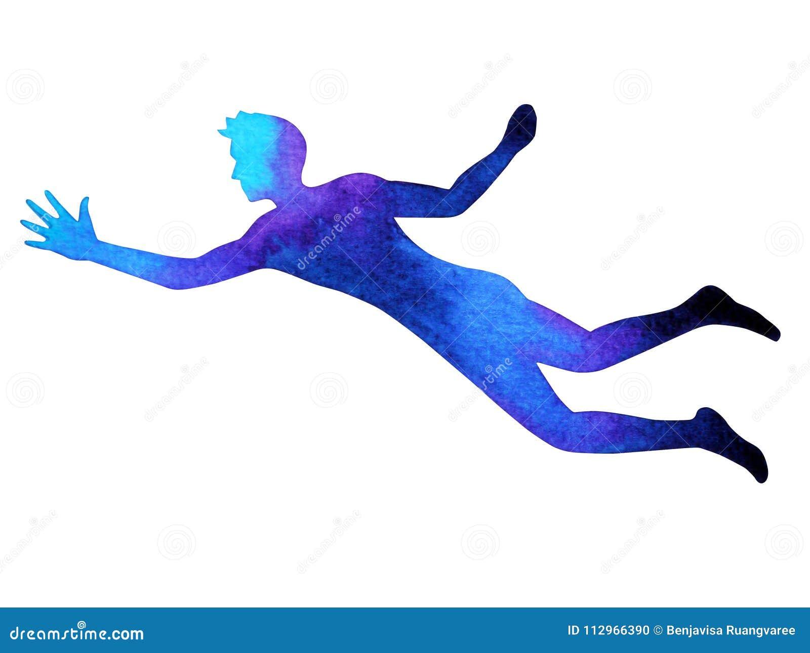 Mänskliga flyglönelyfthänder driver upp energi poserar, gör sammandrag kroppen