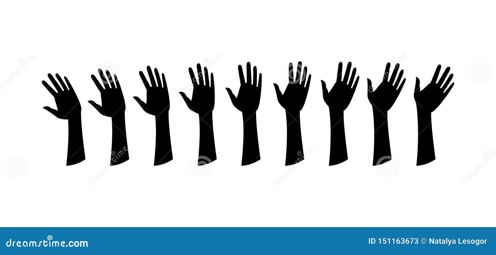 Mänskliga händer, vinkar handen
