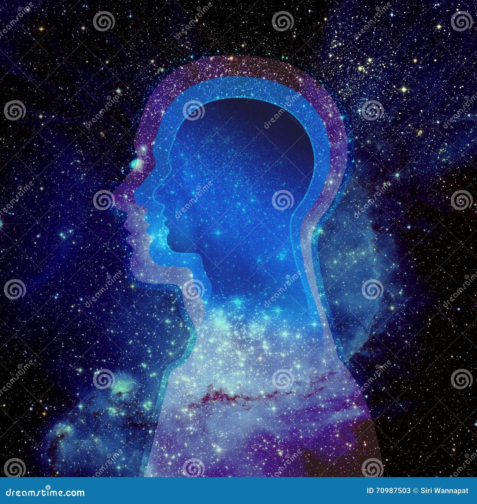 Mänskligt huvud och universum