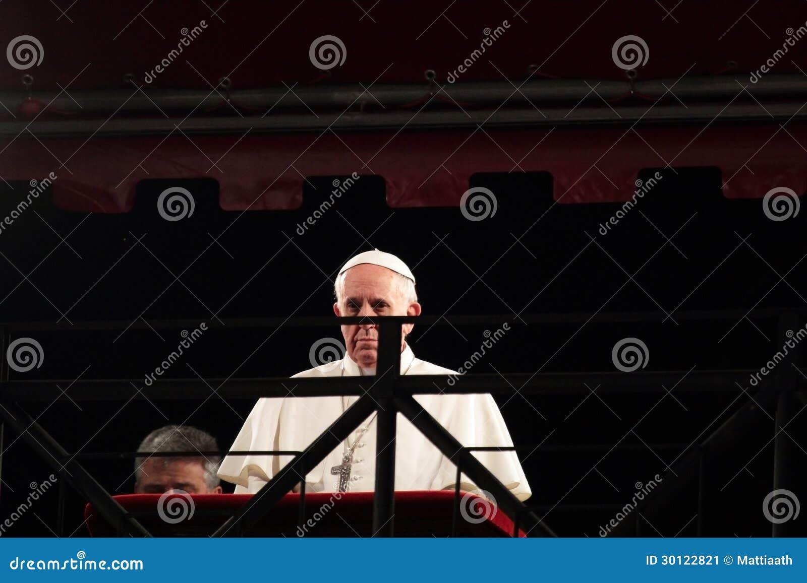 Papst Francis I während der Stationen des Kreuzes an Karfreitag