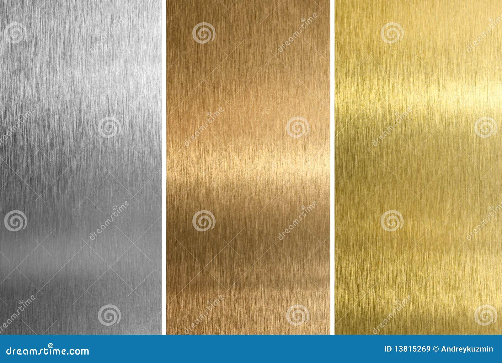 Mässingsbronze guld- silvertexturer