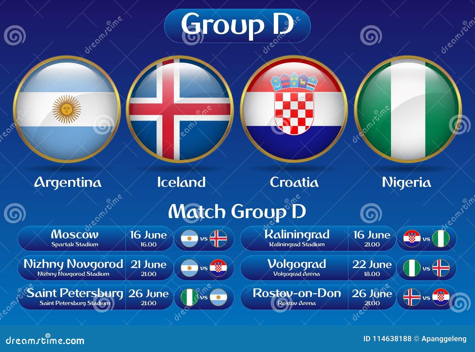 Mästerskap Ryssland 2018 för fotboll för matchgrupp D