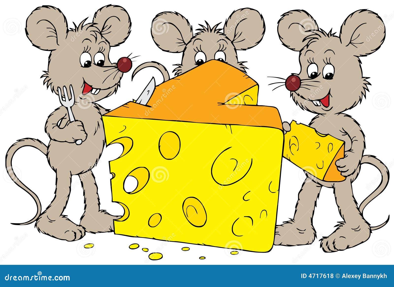 Mäuse und Käse vektor abbildung. Illustration von bild - 4717618