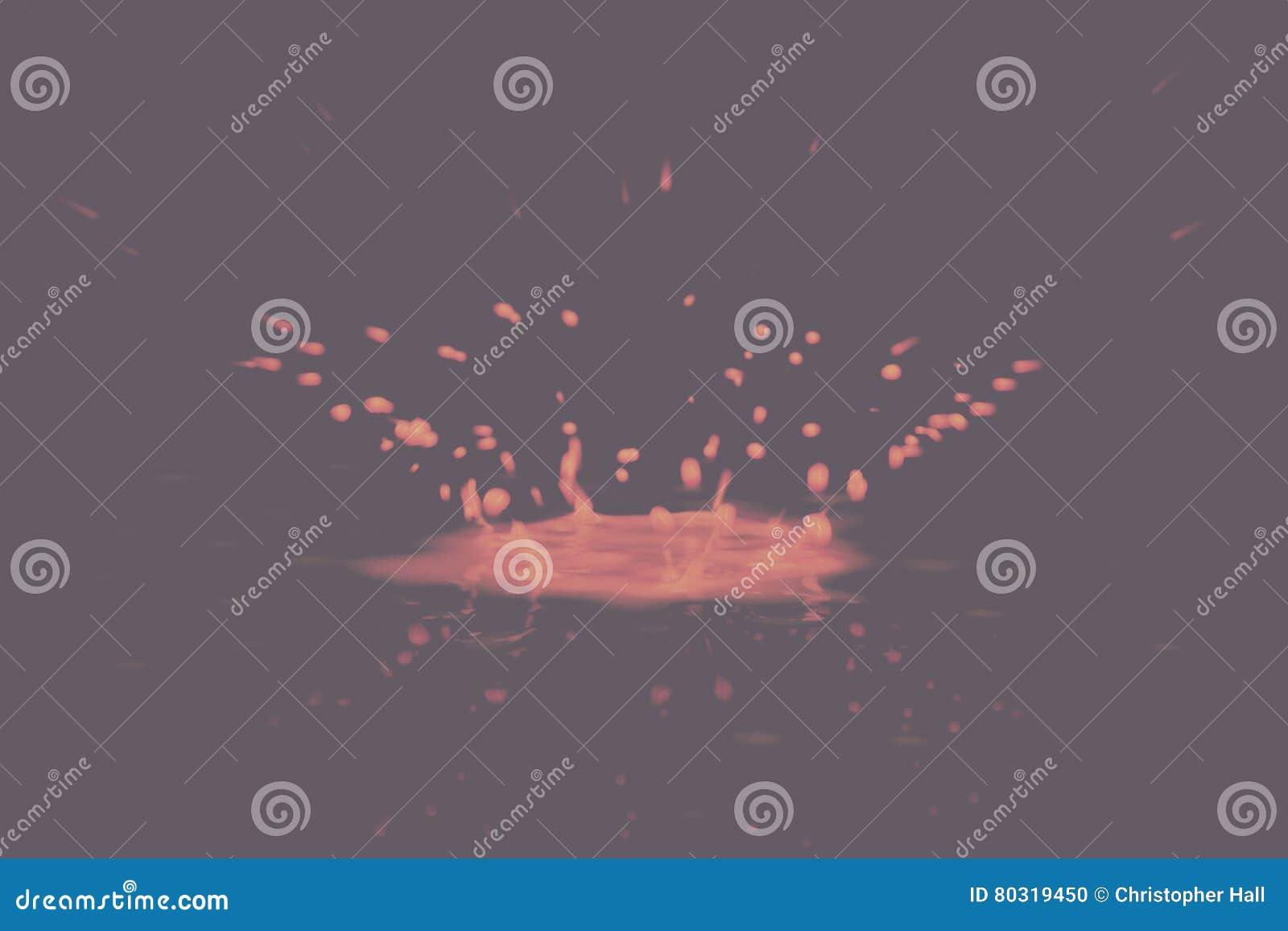 Måla droppe som på plaskar svart ett Retro filter för bakgrundstappning
