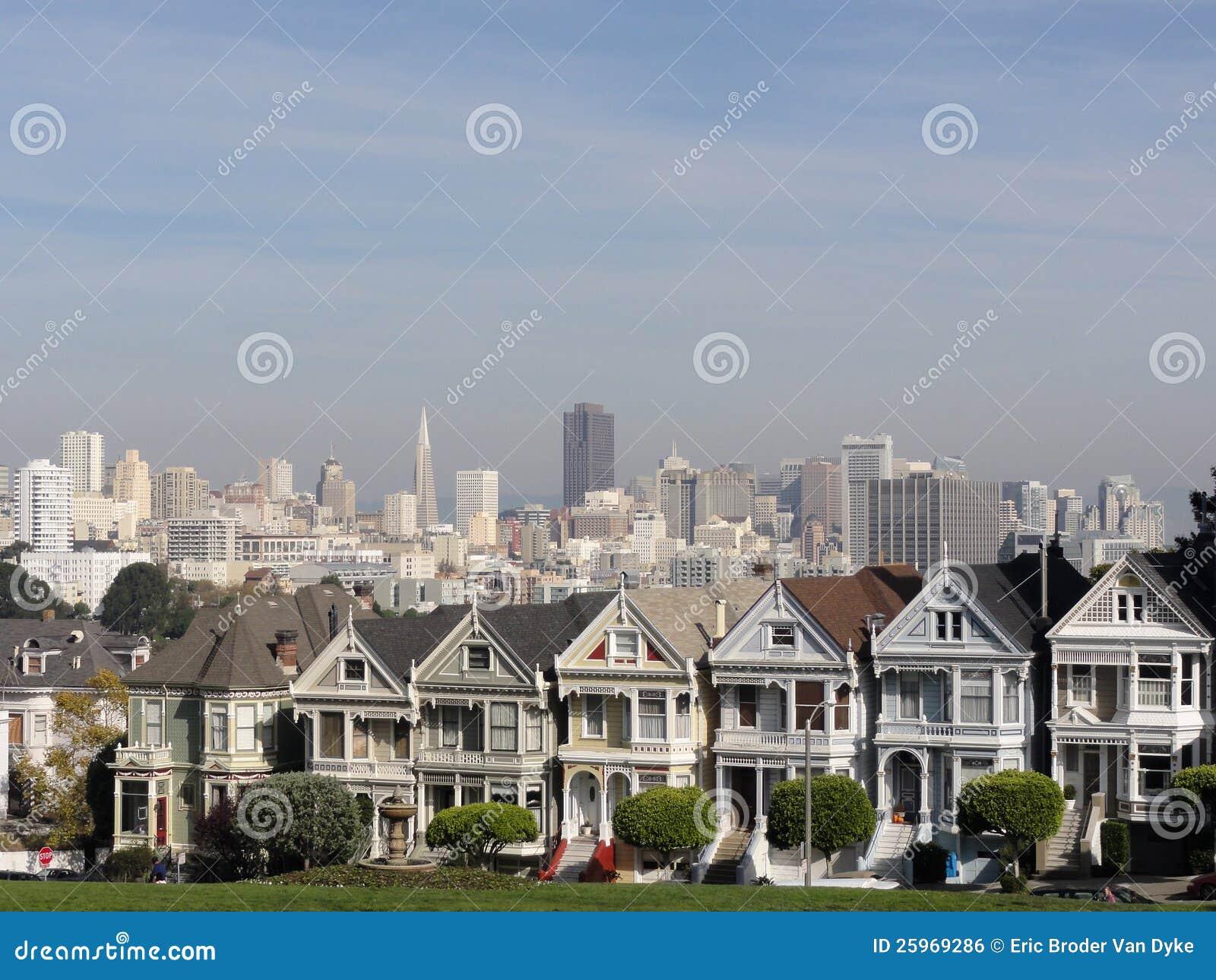 Målad damtoalett av San Francisco