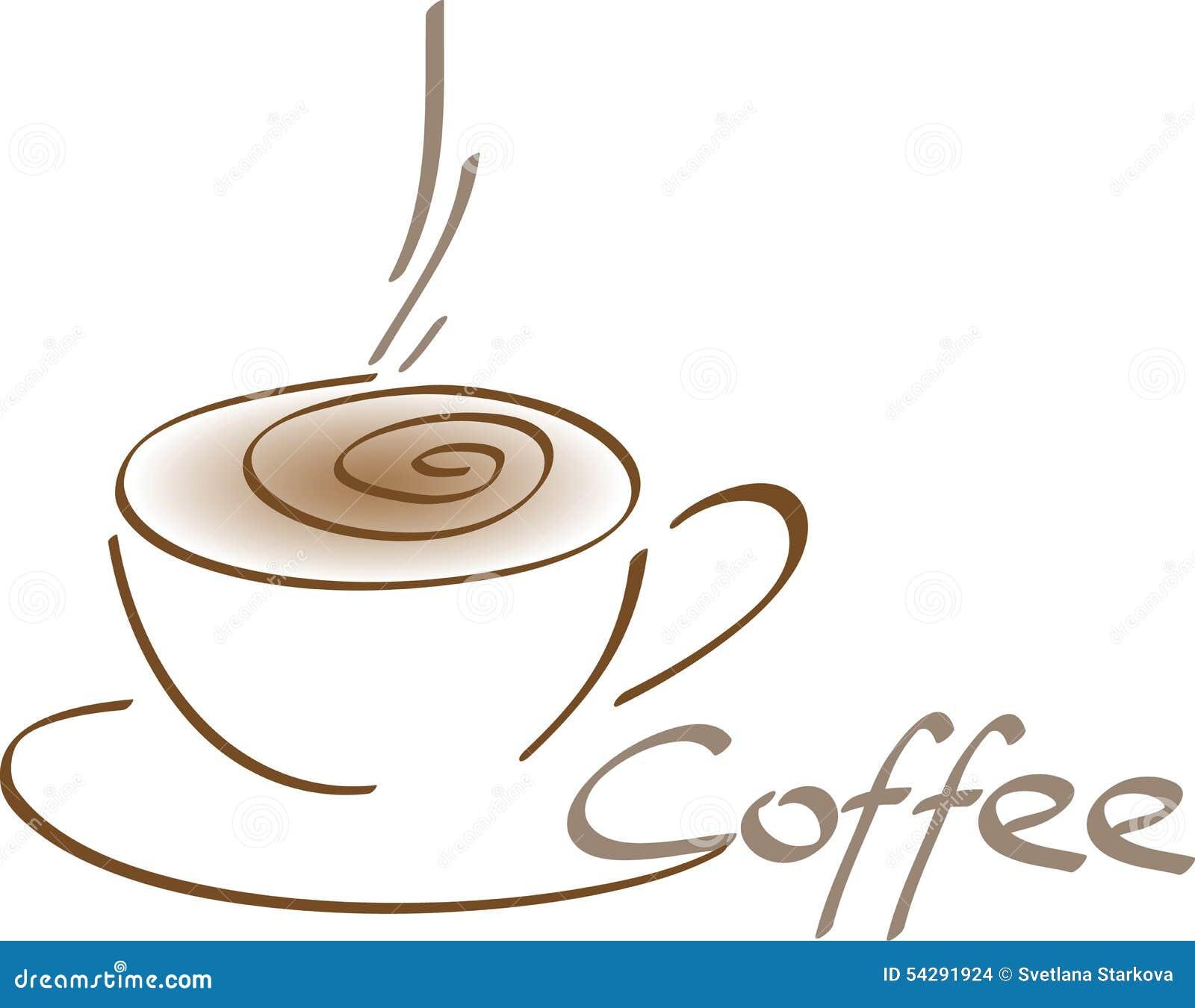 Konstn 228 Rlig Kaffekopp Vektor Illustrationer Illustration