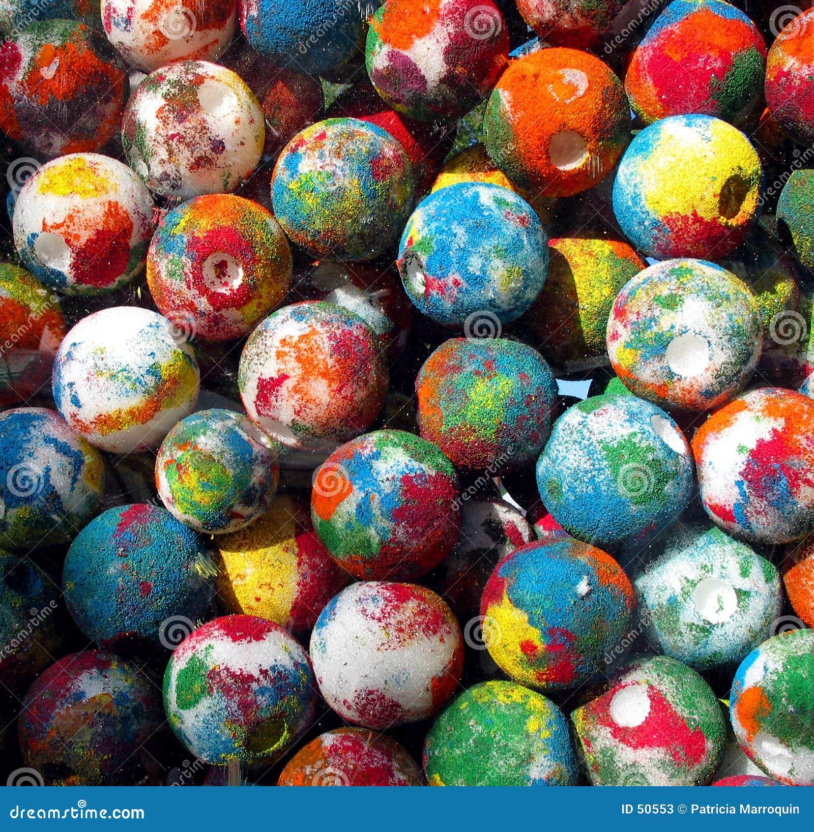 Målade bollar