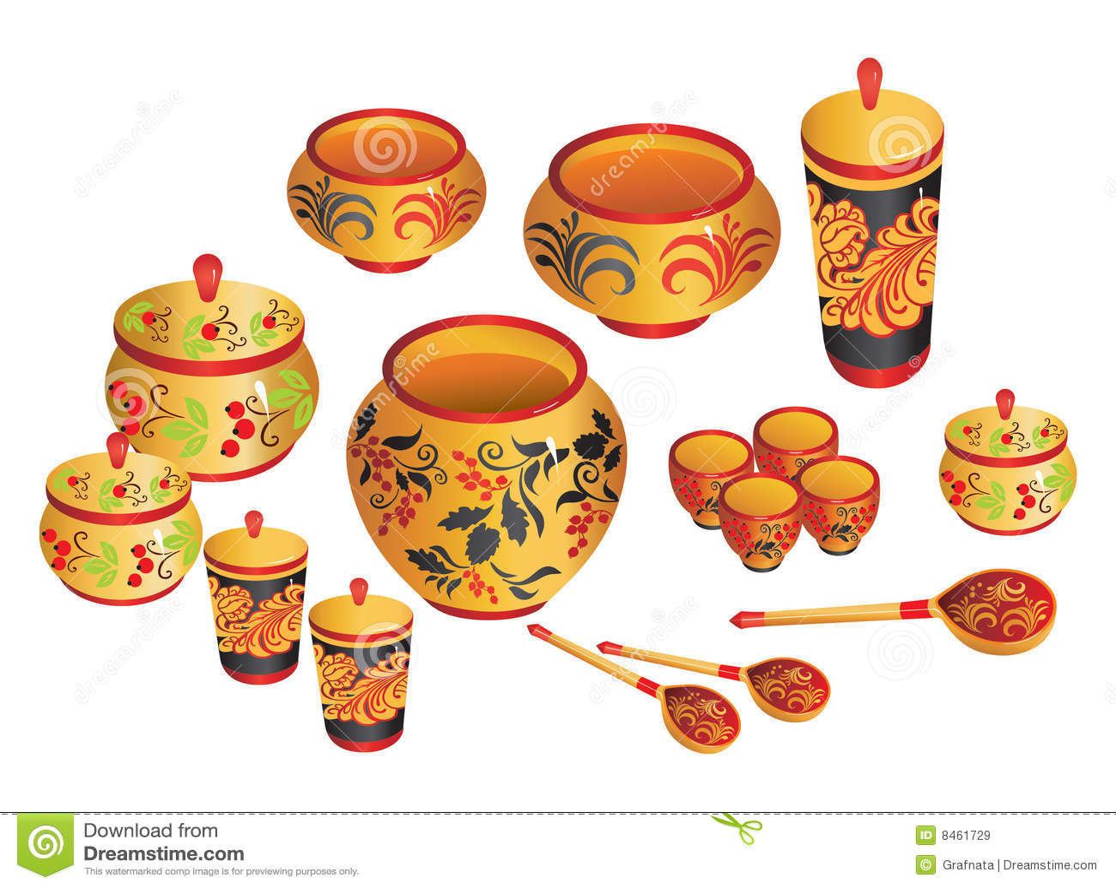 Målade ryssware