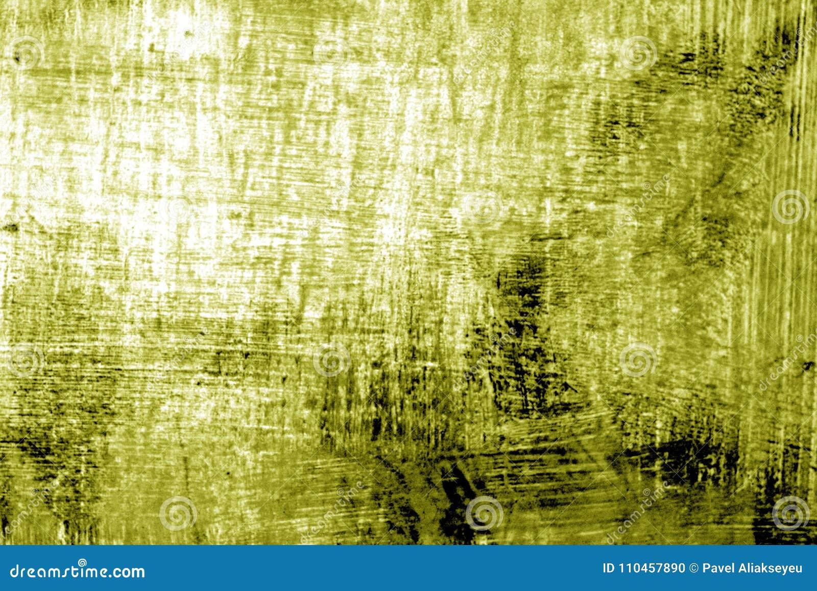 Målarfärgstrockes på metall i gul signal