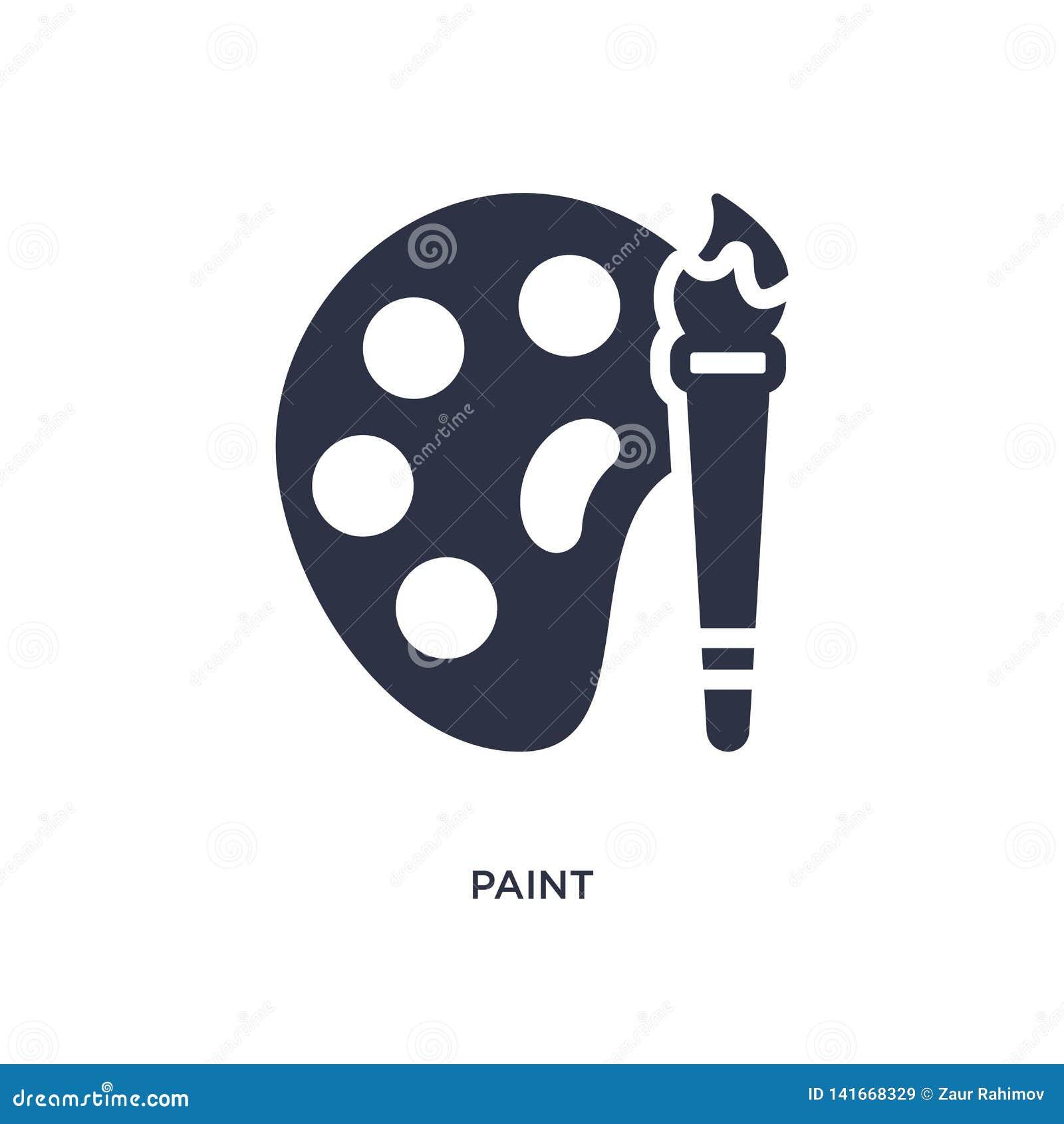 Målarfärgsymbol på vit bakgrund Enkel beståndsdelillustration från användargränssnittbegrepp