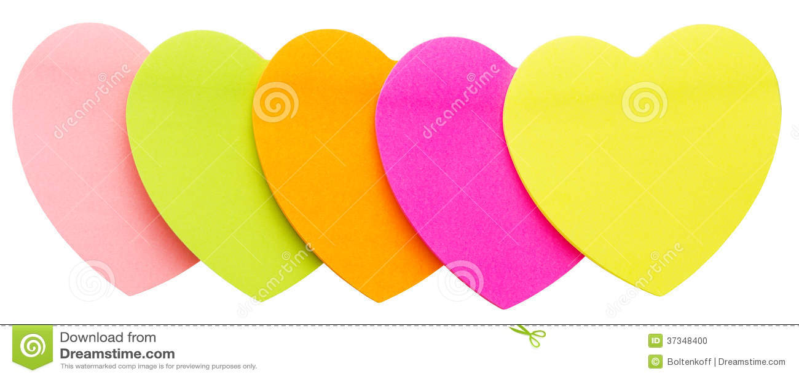 Mång- färgade pappers- hjärtor