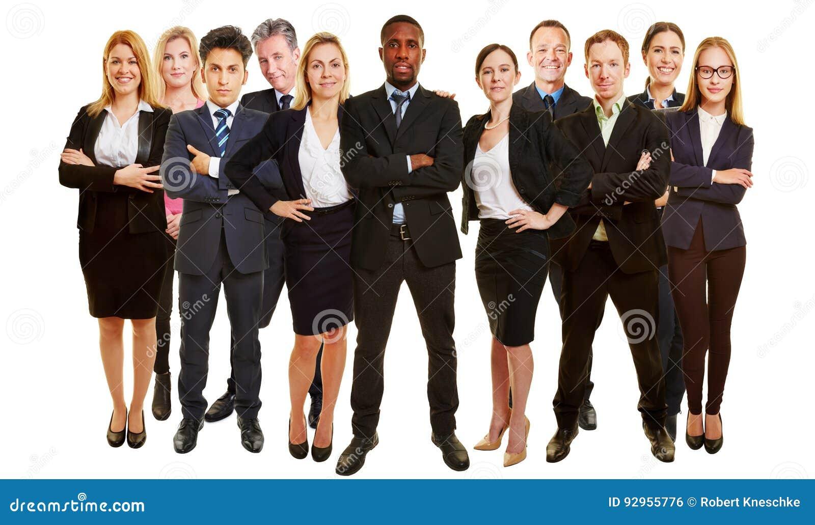 Många affärskonsulenter som laget