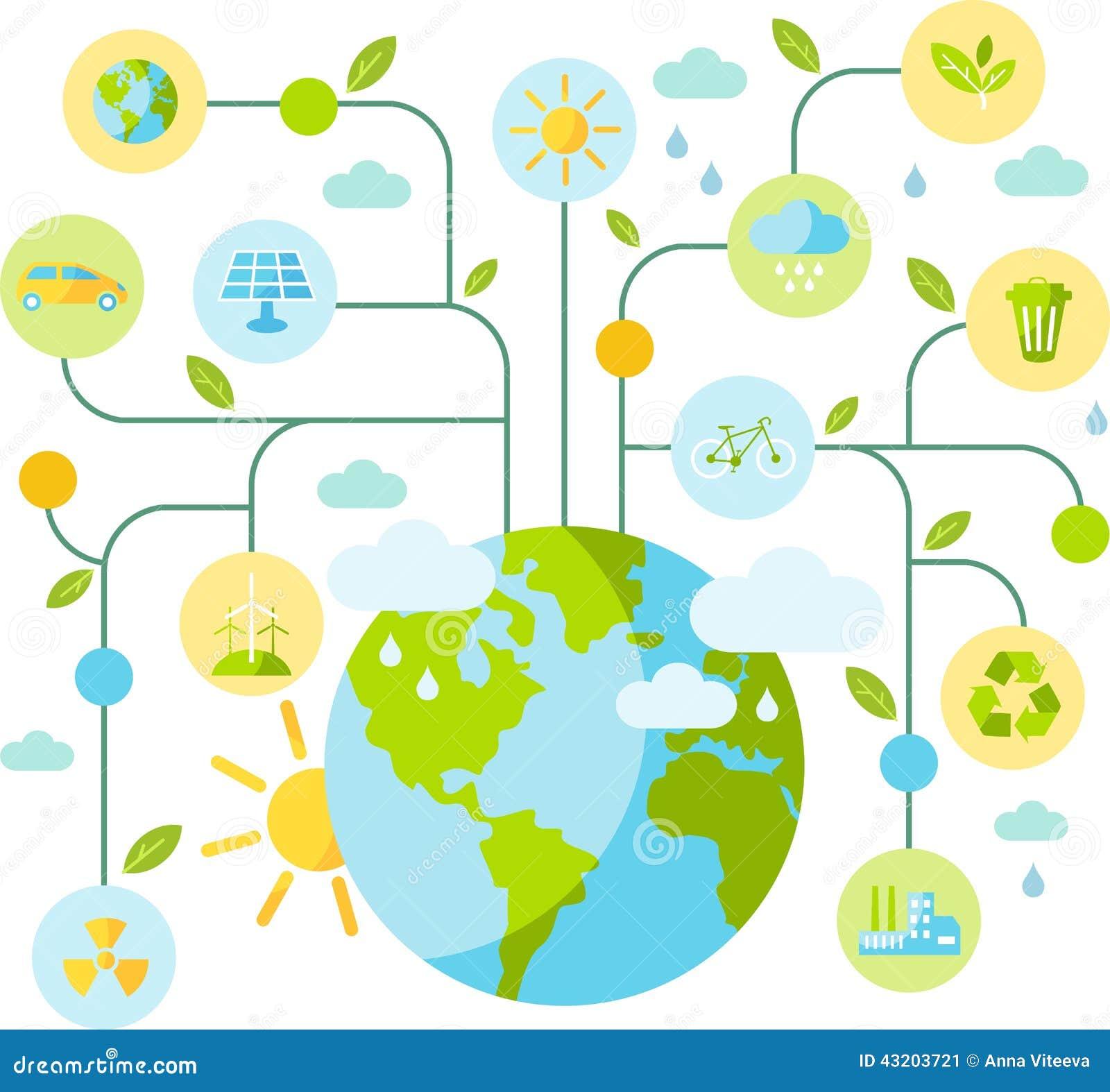 Download Många Begreppsekologibilder Mer Min Portfölj Stock Illustrationer - Illustration av atmosfäriskt, jord: 43203721