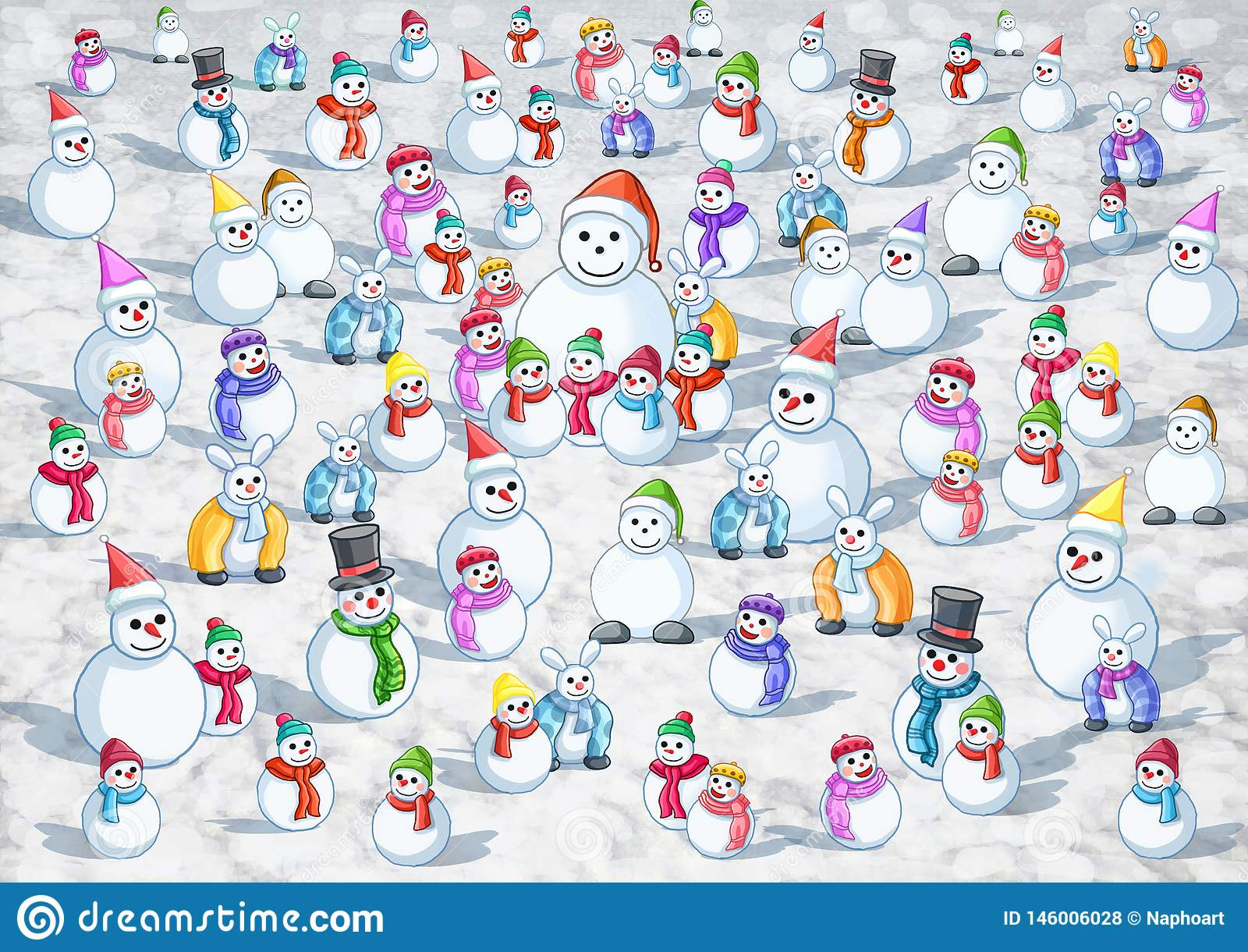 Många kall snö varm snö