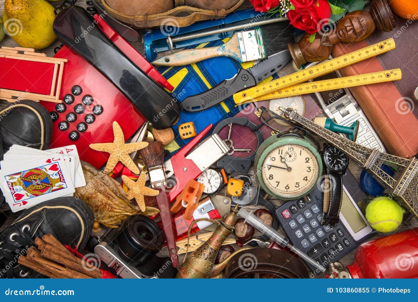 Många objekt i kaos