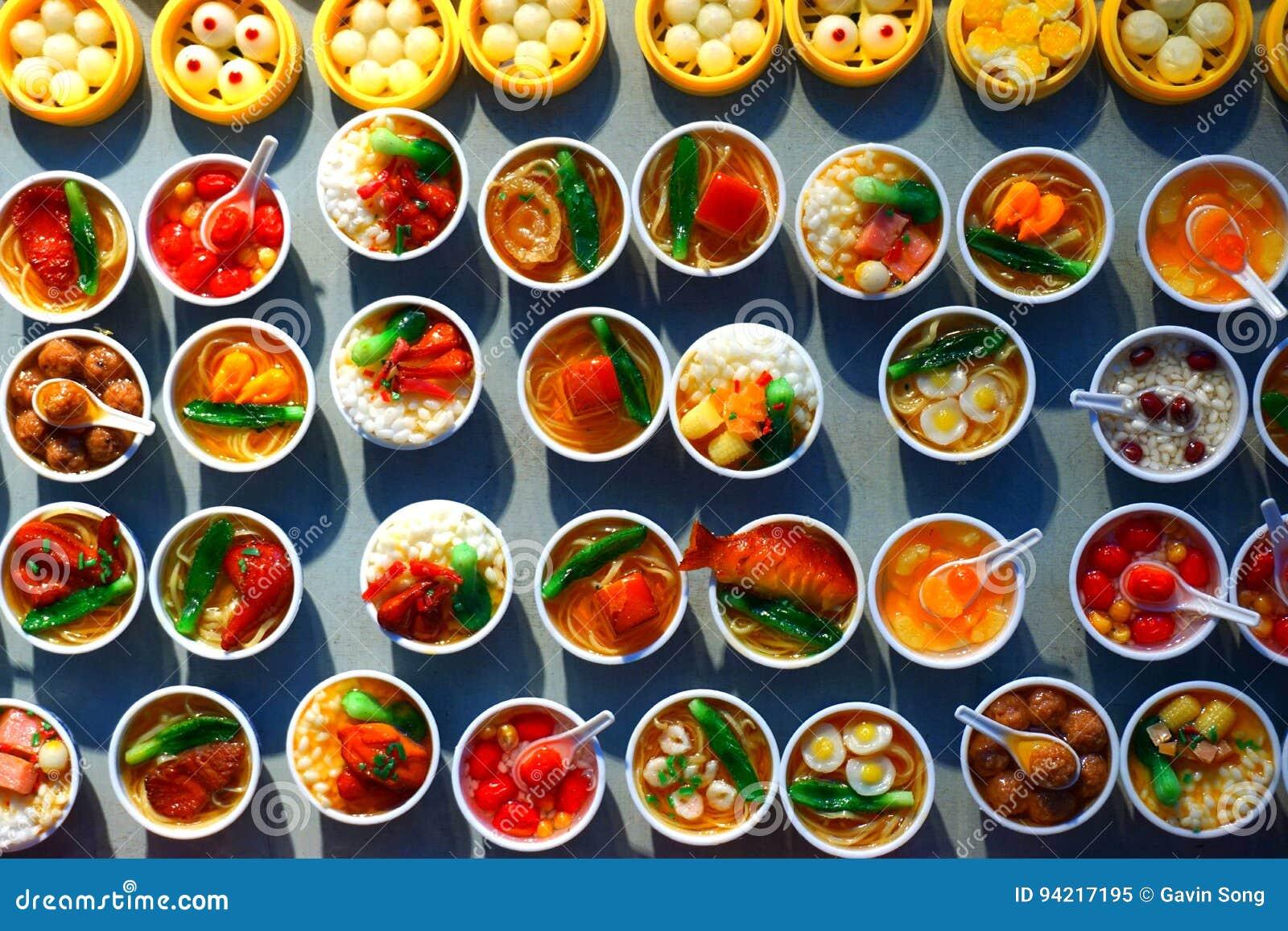 Många sorter av kinesisk disk