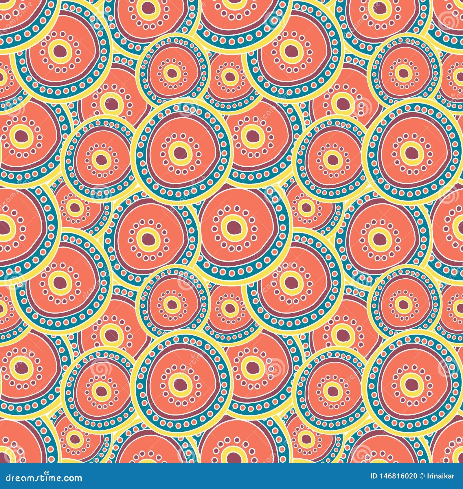 Mångfärgade cirklar som varvar på de