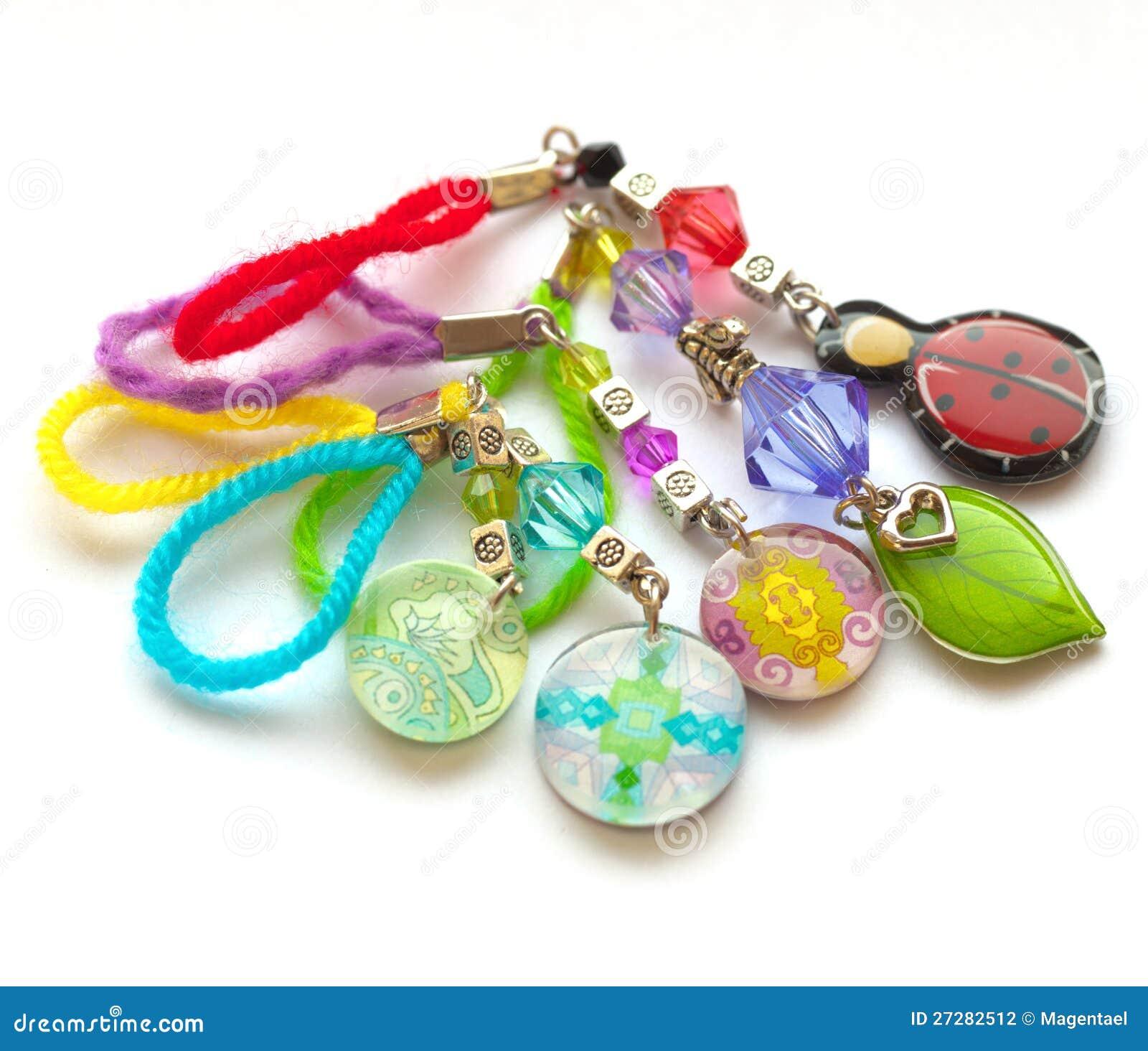 Mångfärgade handgjorda key kedjor