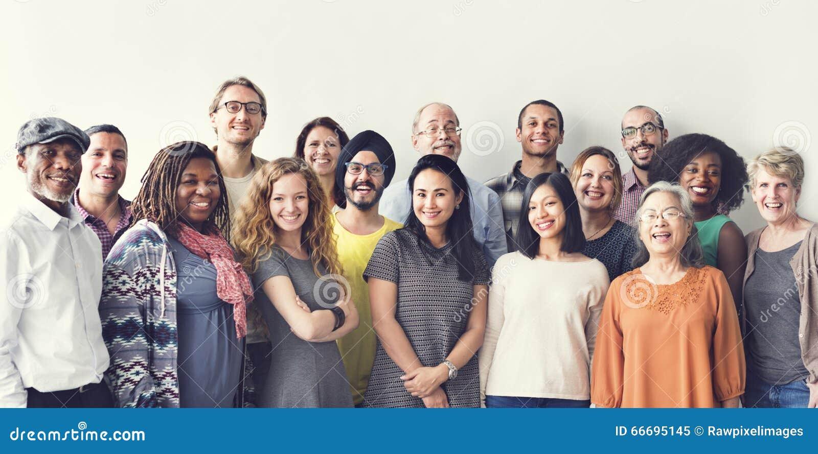Mångfaldfolkgrupp Team Union Concept