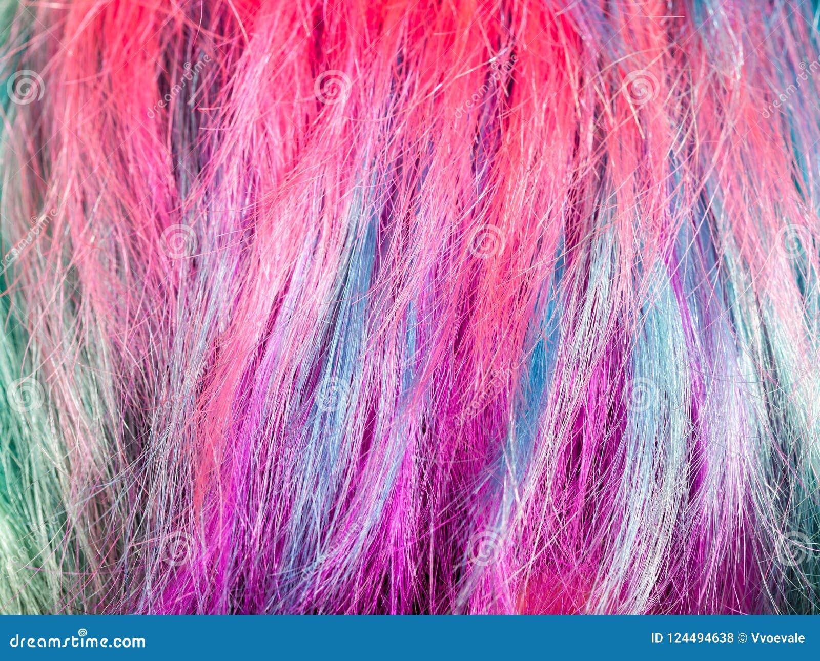 Mèches teintes colorées des poils femelles