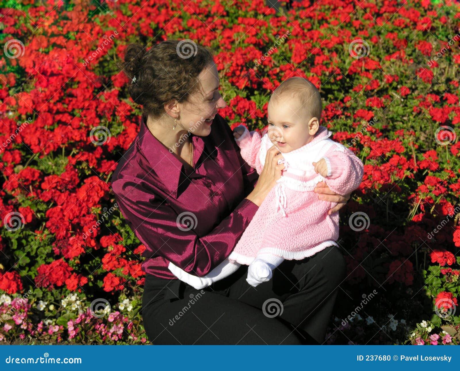 Mère avec la chéri