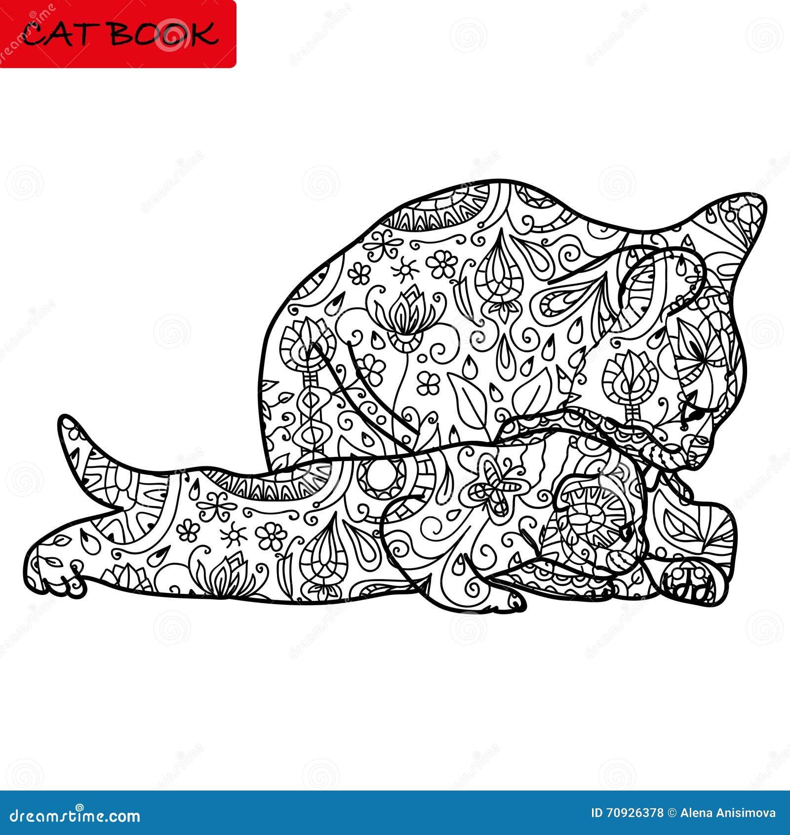 M re de chat et son chaton dr le livre de coloriage pour - Image de chat a colorier ...