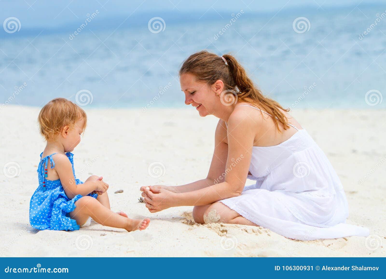 Mère et descendant des vacances