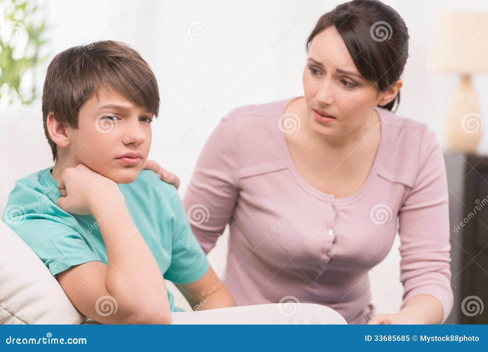 Mère et enfant de problème.