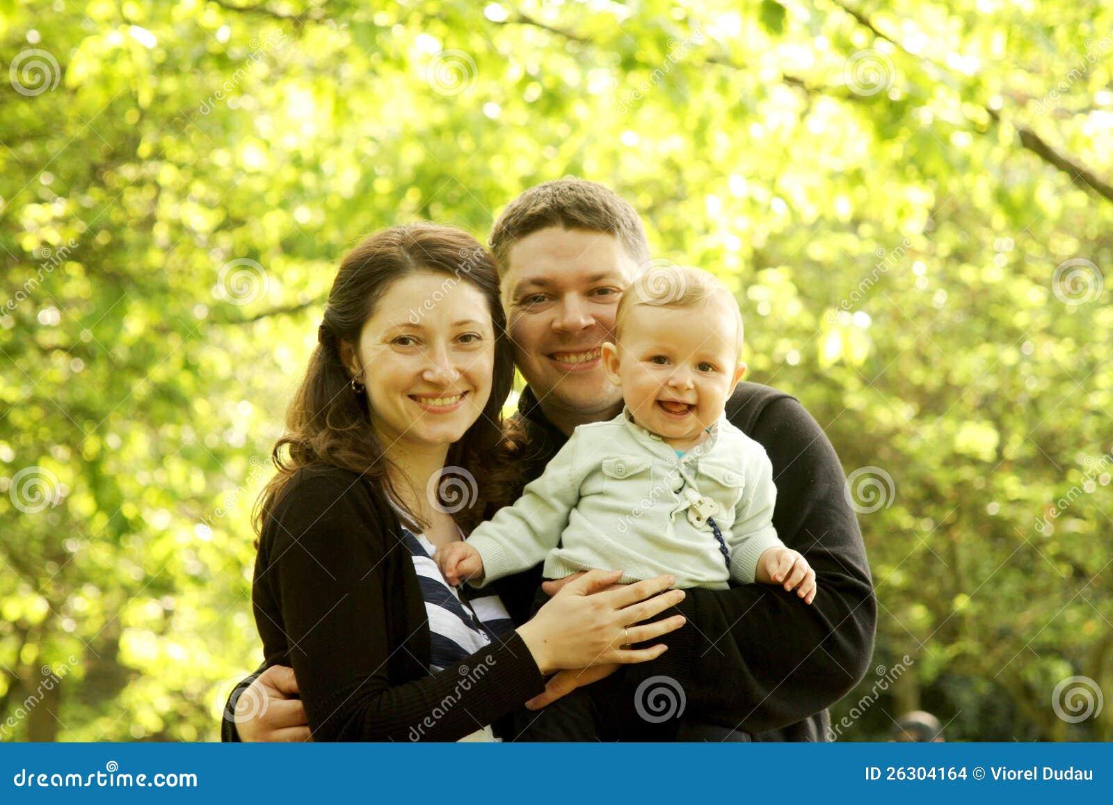 Mère et père avec la chéri