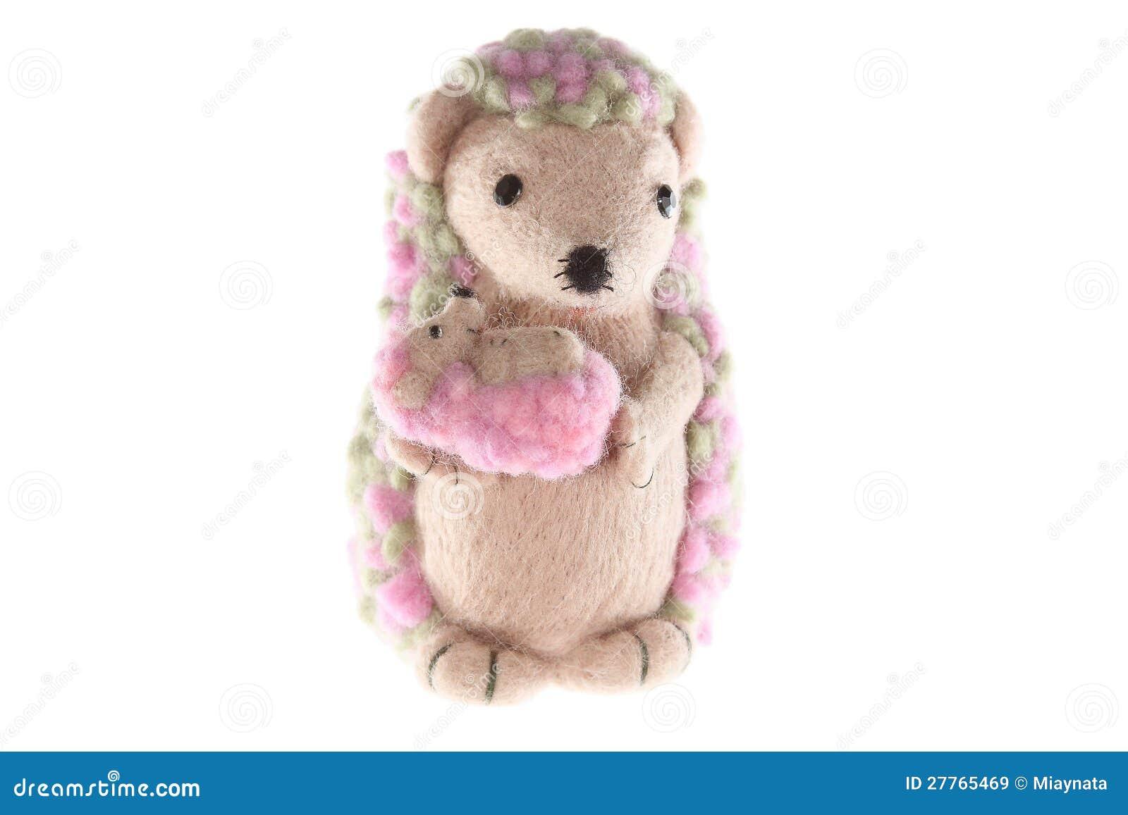 Mère fabriquée à la main de jouet de hérisson