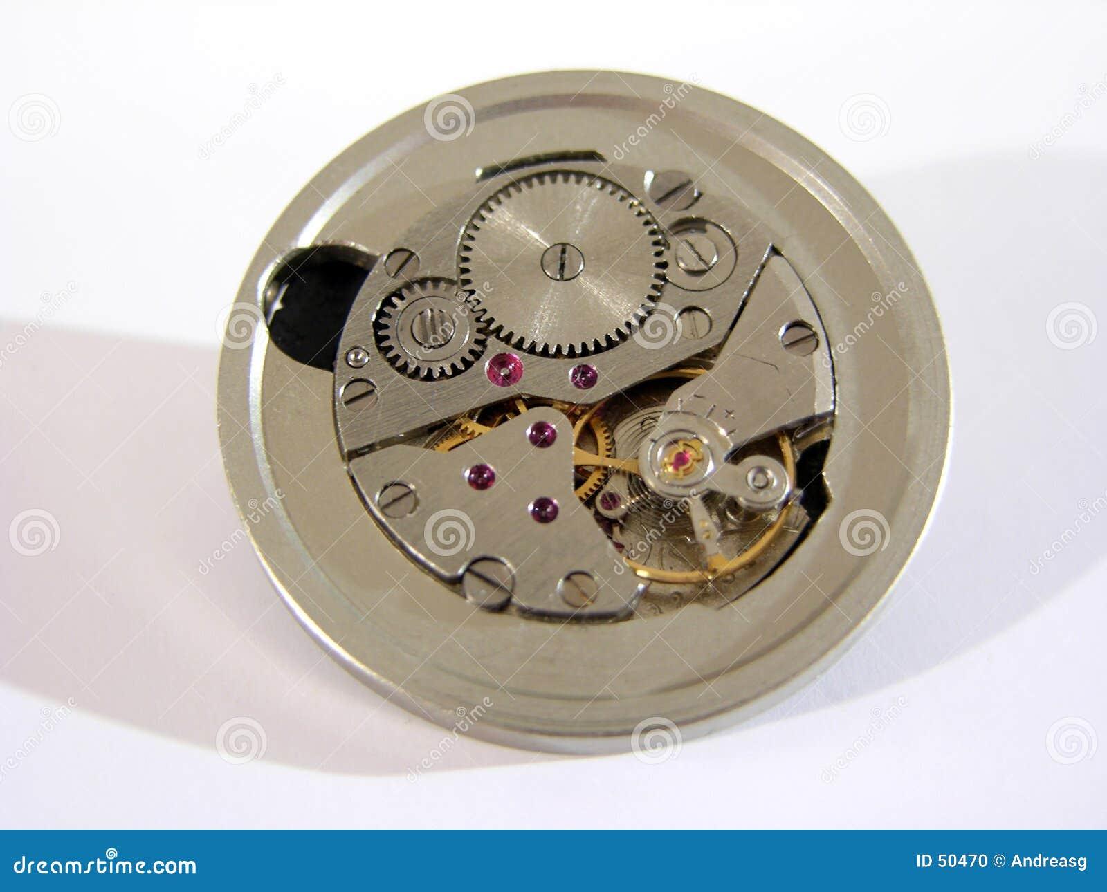 Download Mécanisme d'horloge photo stock. Image du programme, bijoux - 50470