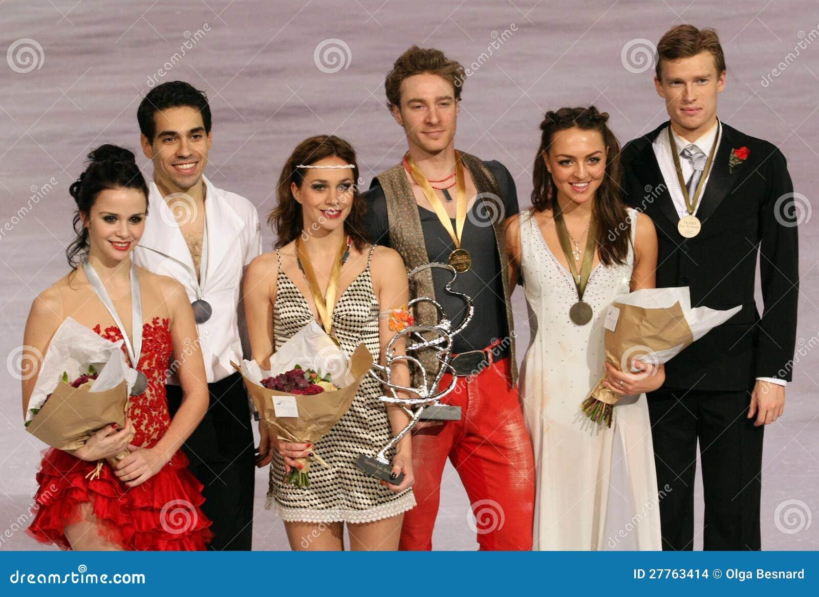 Médaillés dans la danse de glace