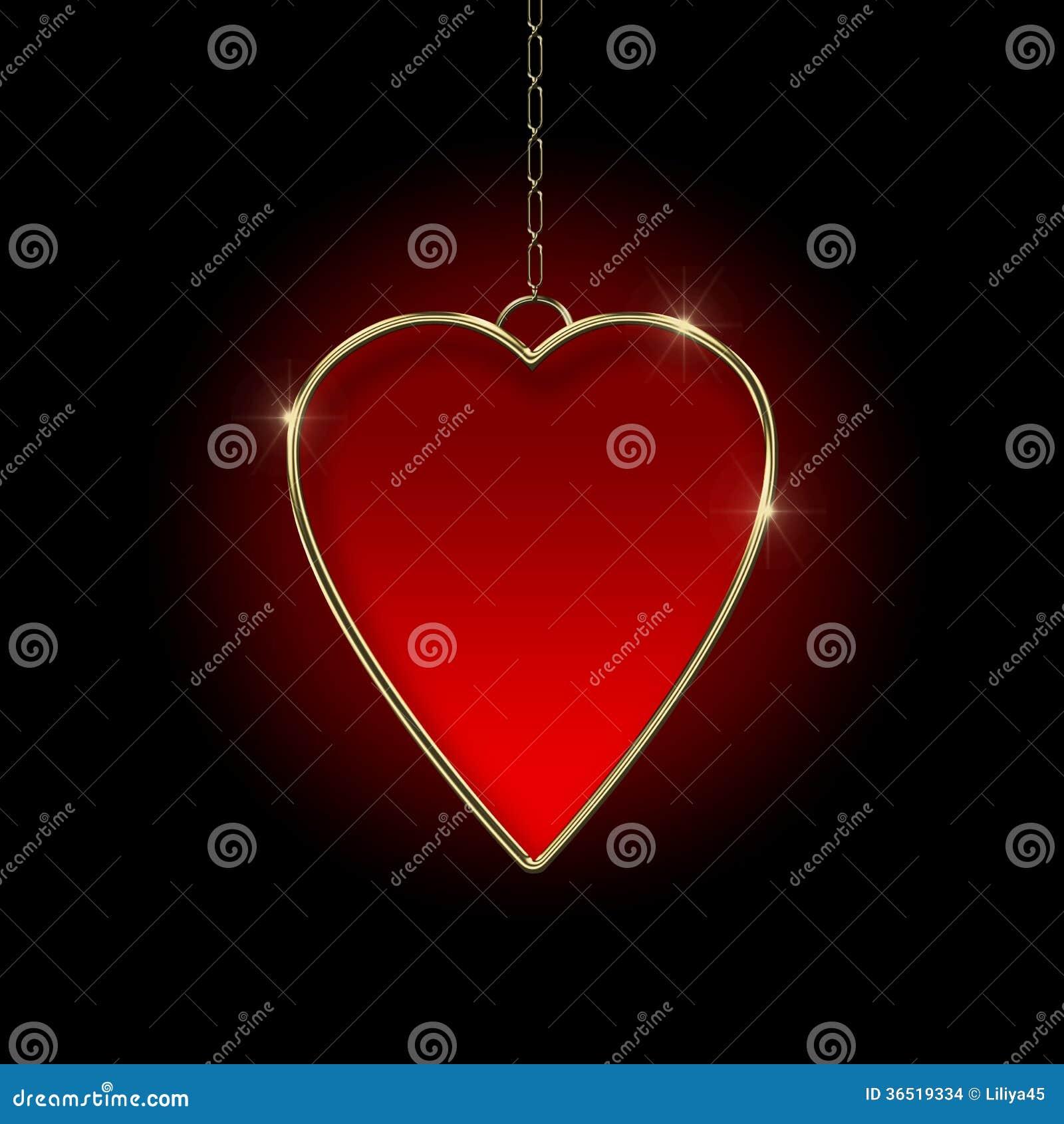 Médaillon de coeur.