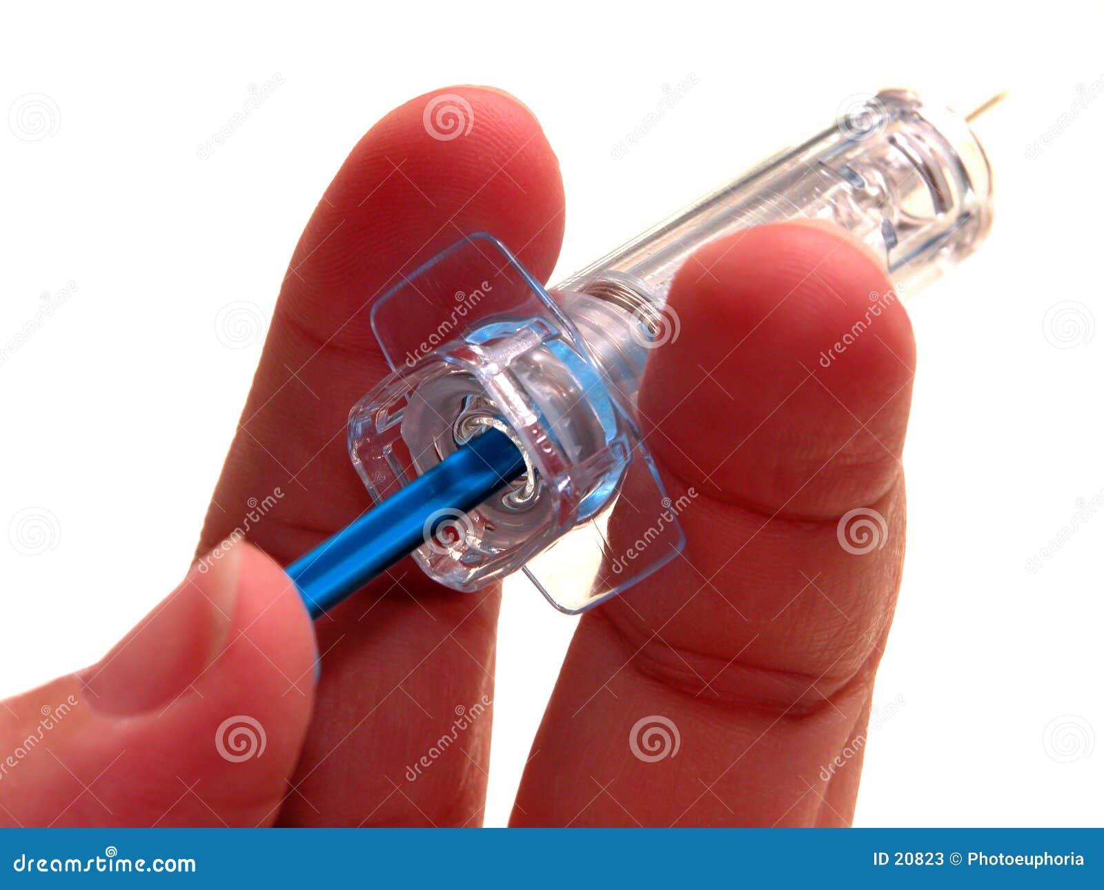 Médico: Jeringuilla de la inyección