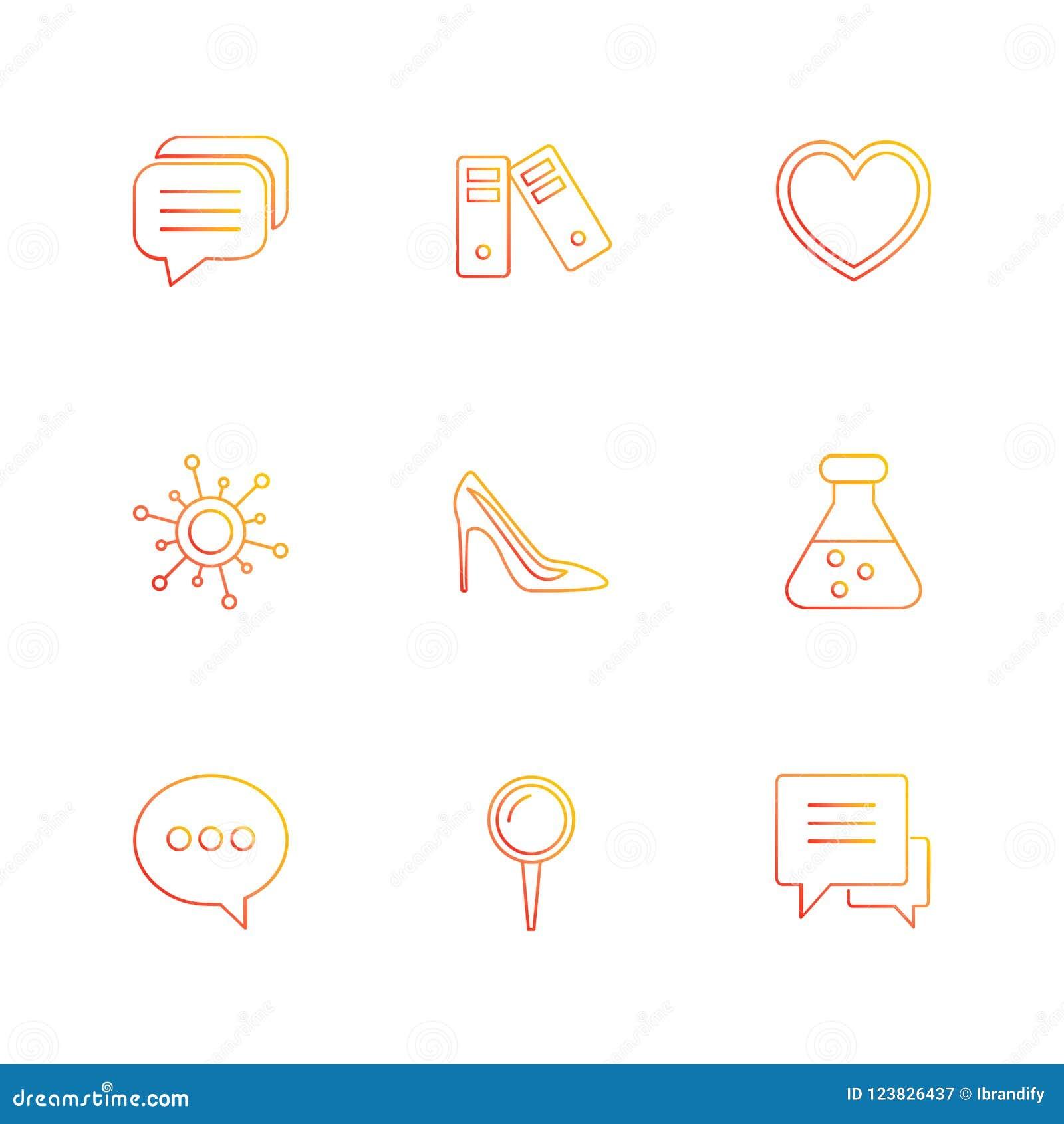 Médico, saúde, navegação, conversação, ícones do eps ajuste o vec