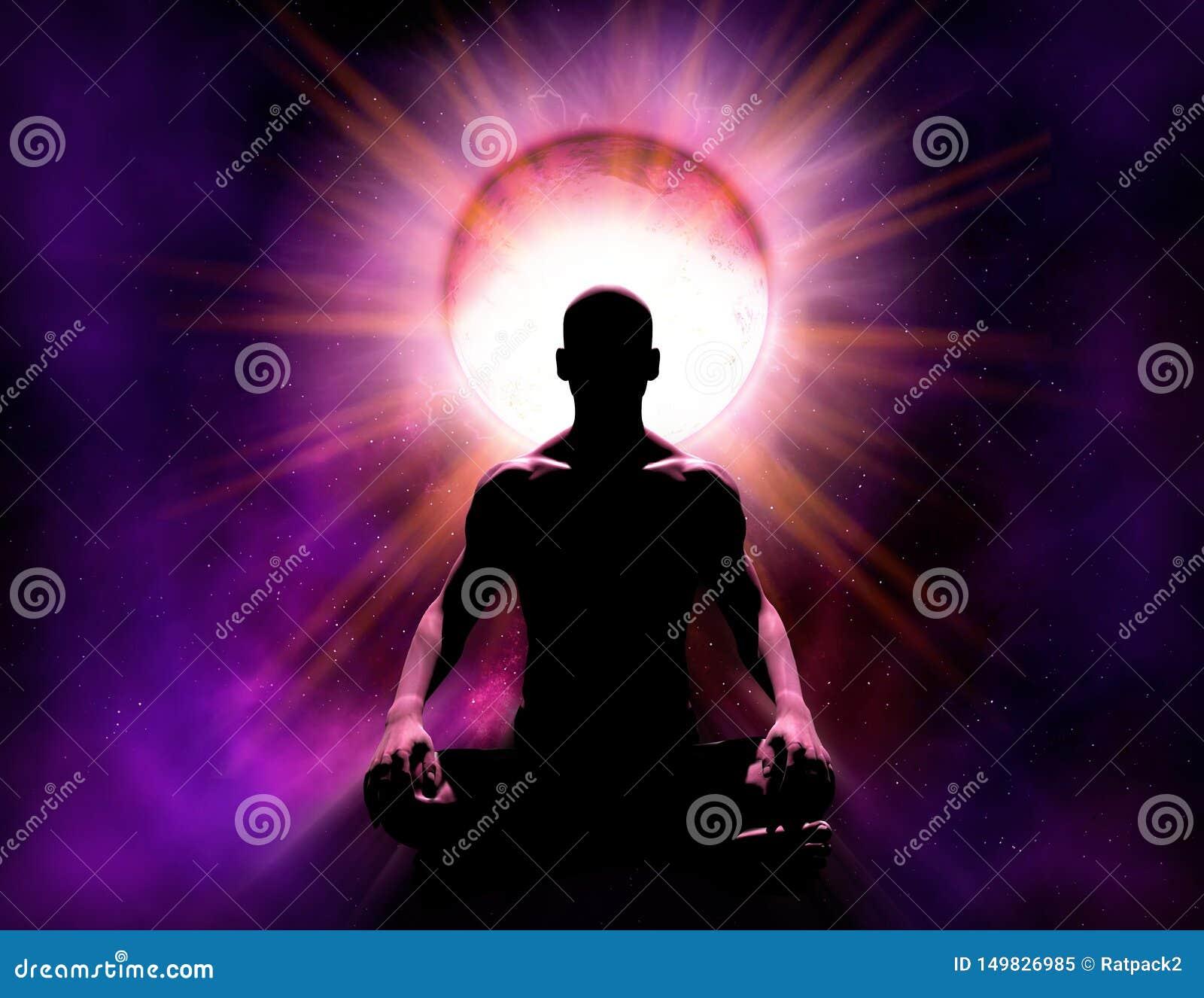Médium universal Mind Power da meditação e da iluminação