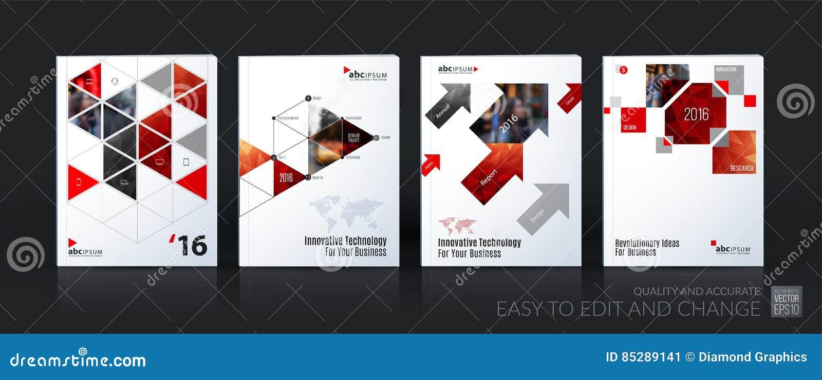Méga de calibre de vecteur d affaires réglé La disposition de brochure, couvrent moderne