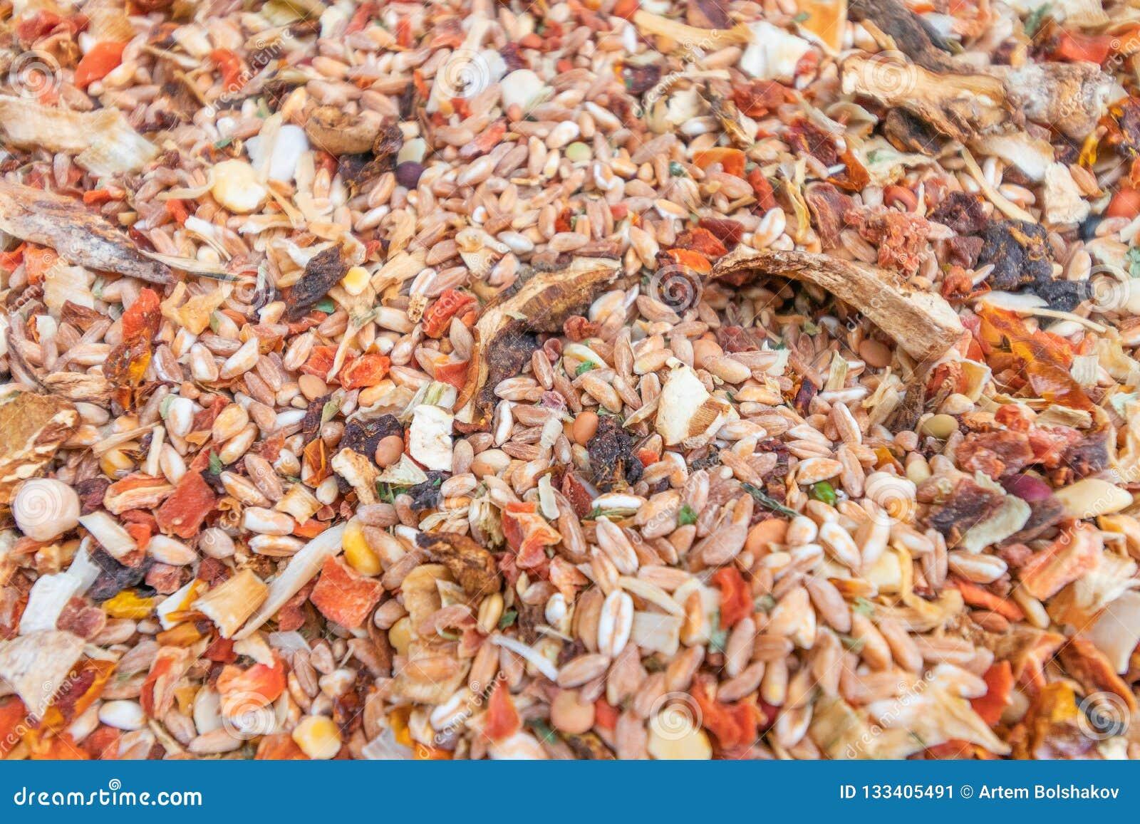 Mélange de différentes céréales en plus des légumes secs et