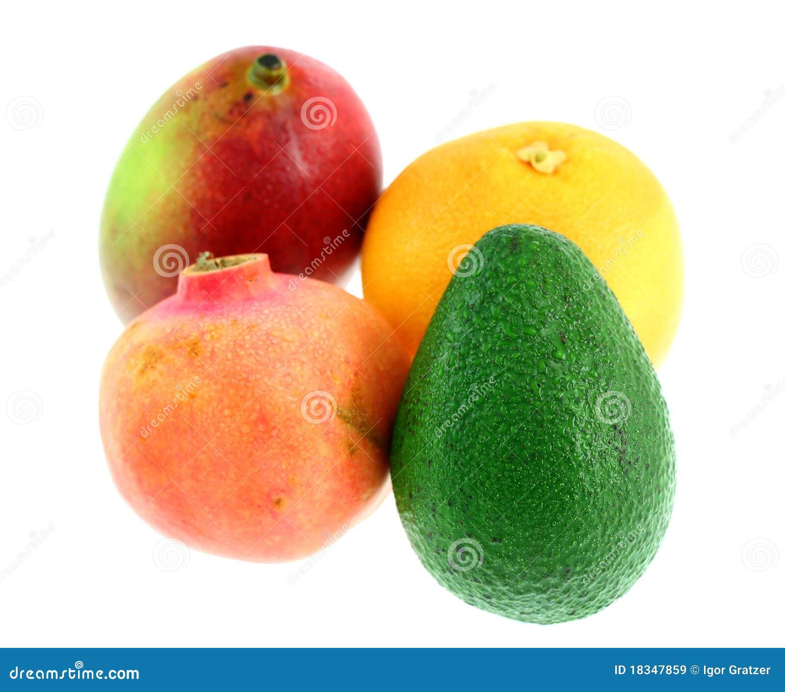 M lange des fruits et l gumes tropicaux - Fruits et legumes de a a z ...