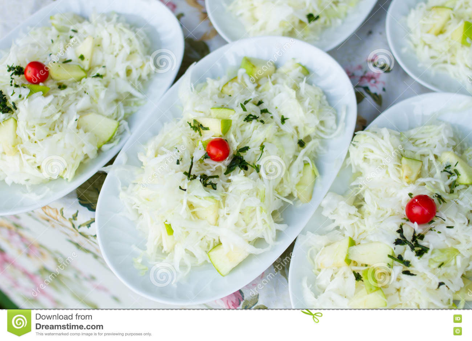 Mélange végétal mariné
