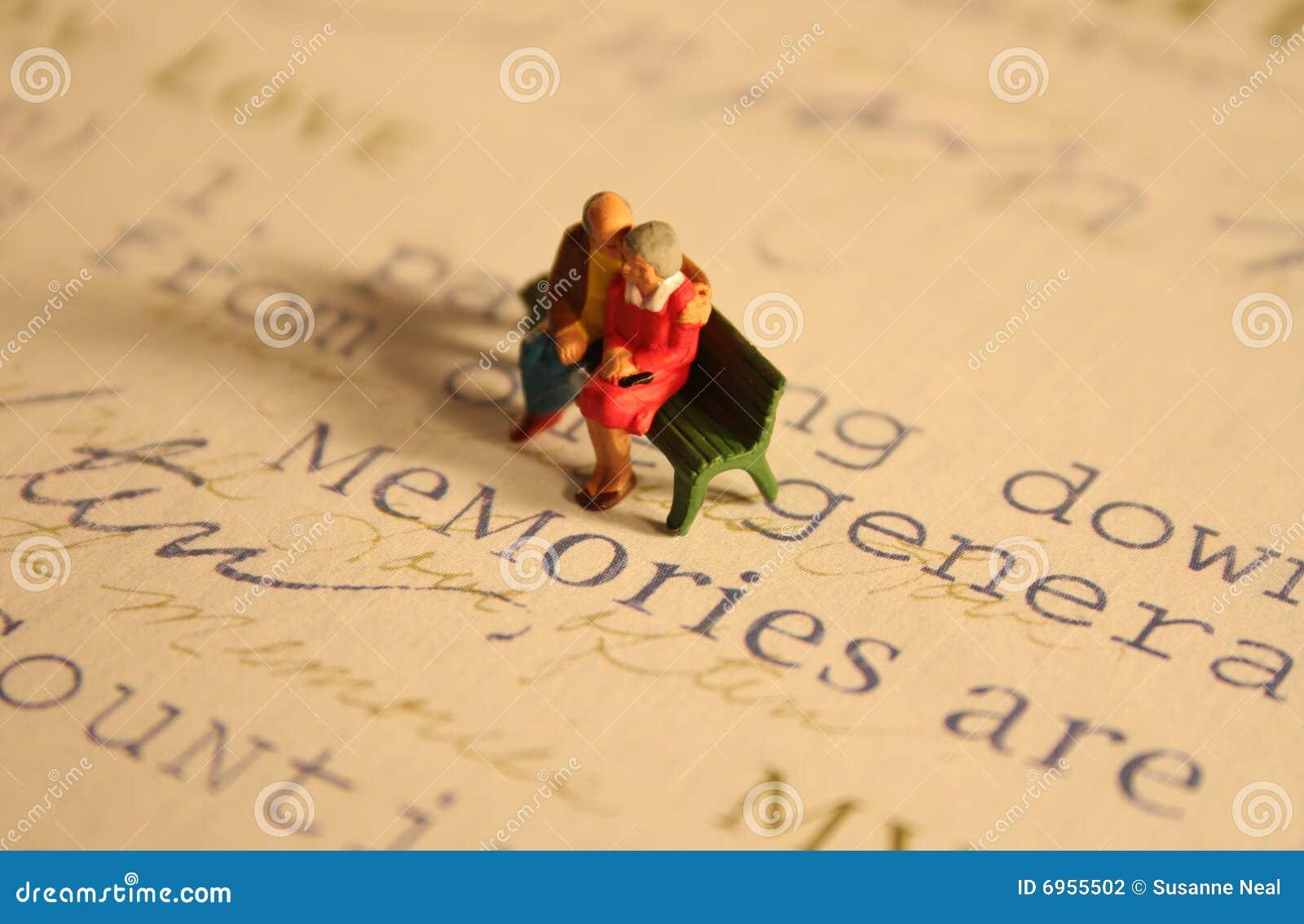 Mémoires de personnes âgées de couples