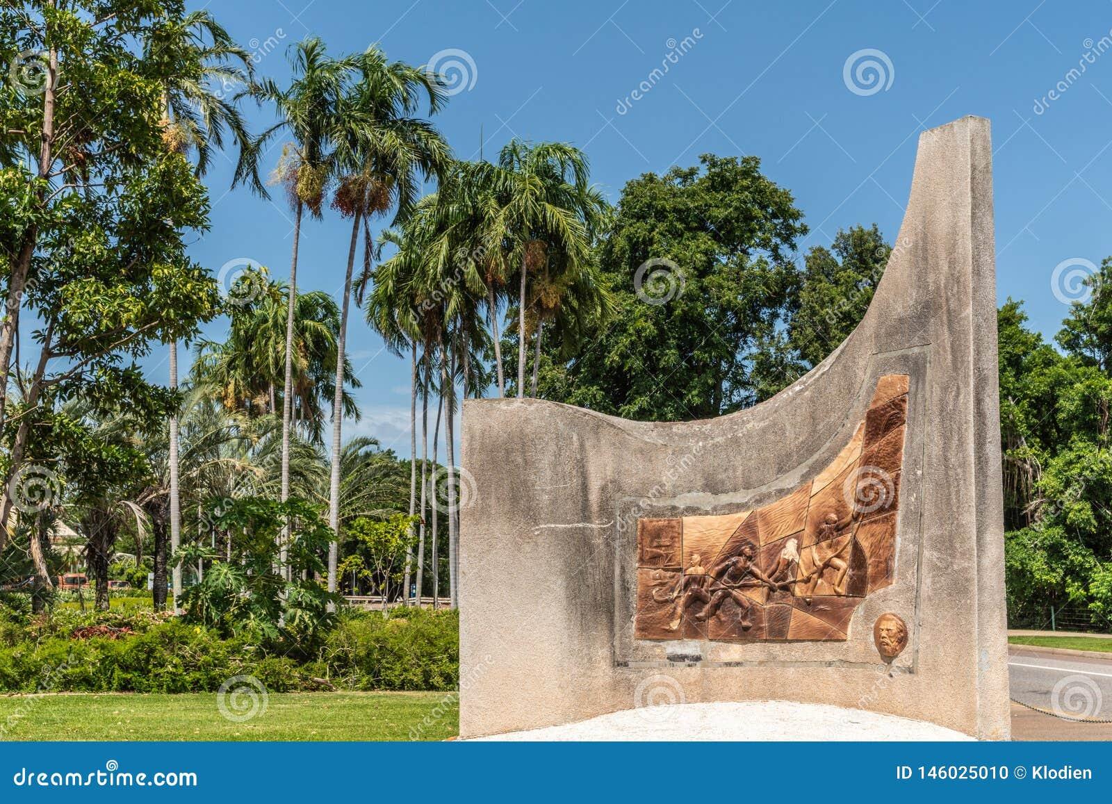Mémorial commémorant le centenaire du câble d outre-mer, Darwin Australia