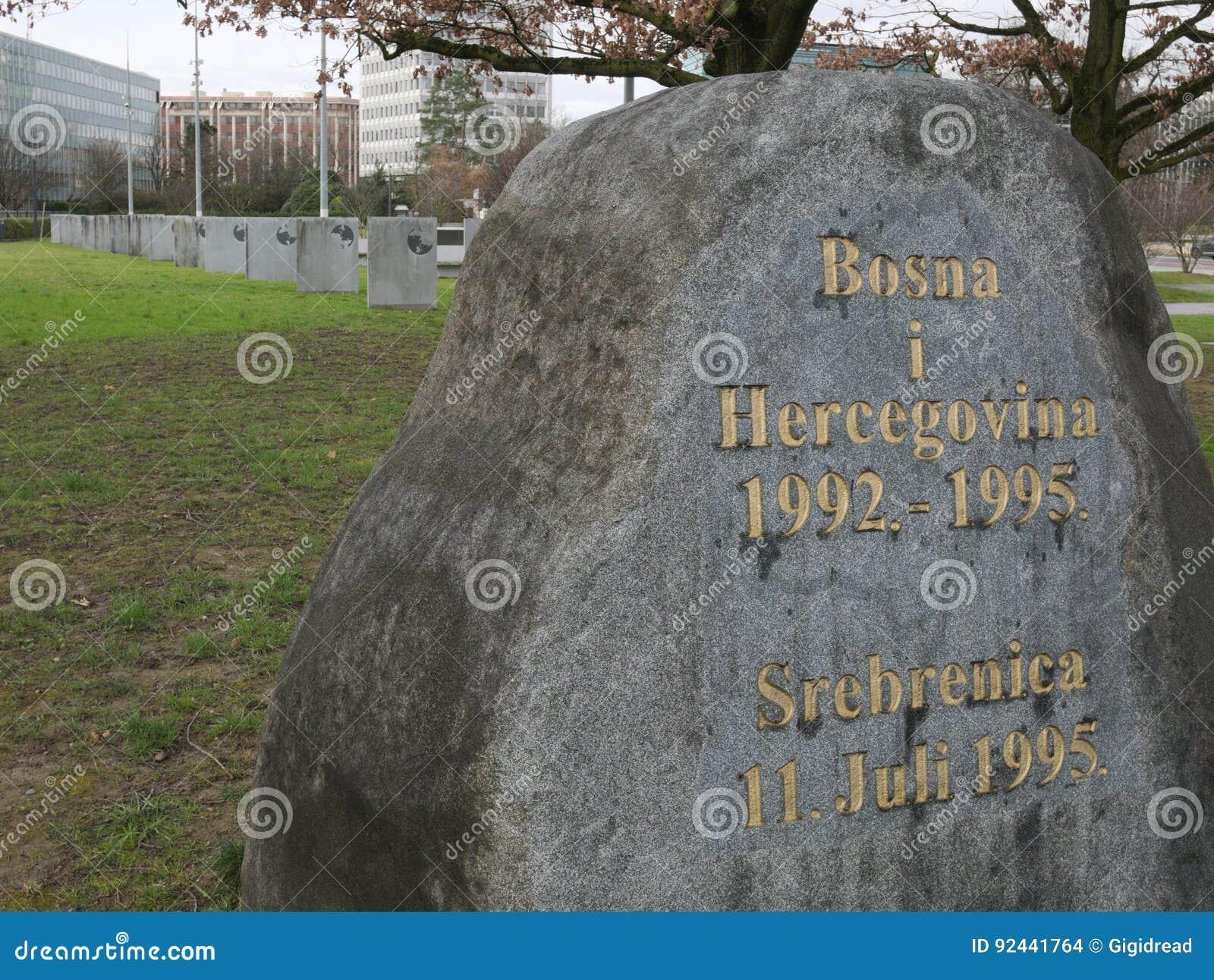 Mémorial de guerre ex de la yougoslavie devant le bureau de l onu